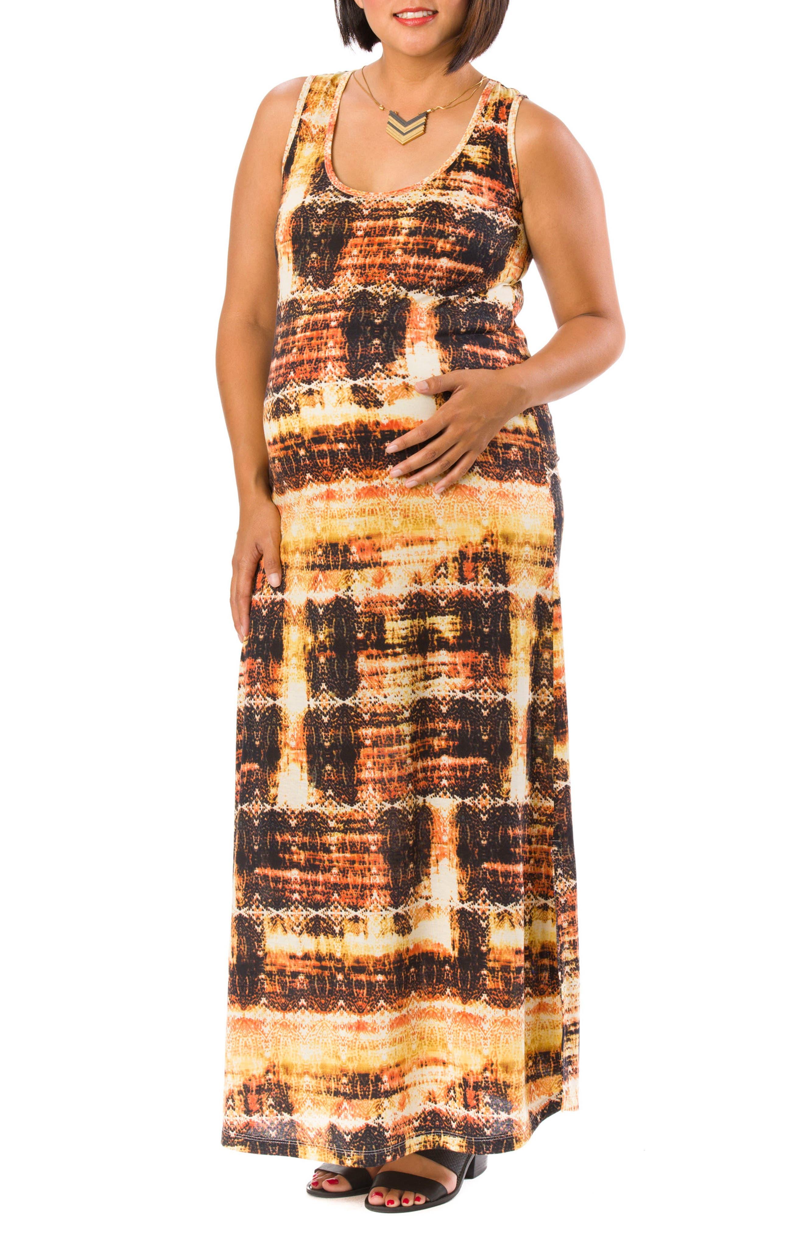 LAB40 Luna Maternity Maxi Dress