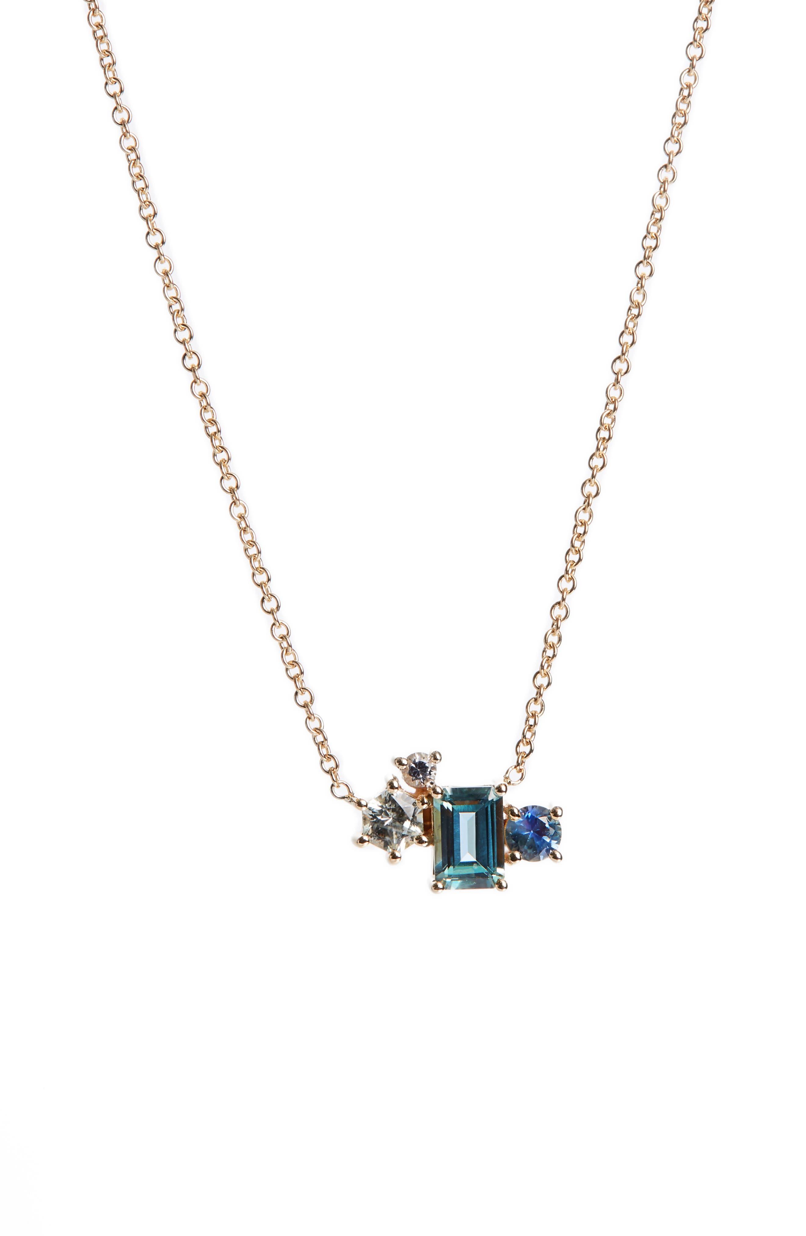 Alternate Image 1 Selected - MOCIUN Sapphire Pendant Necklace (Nordstrom Exclusive)