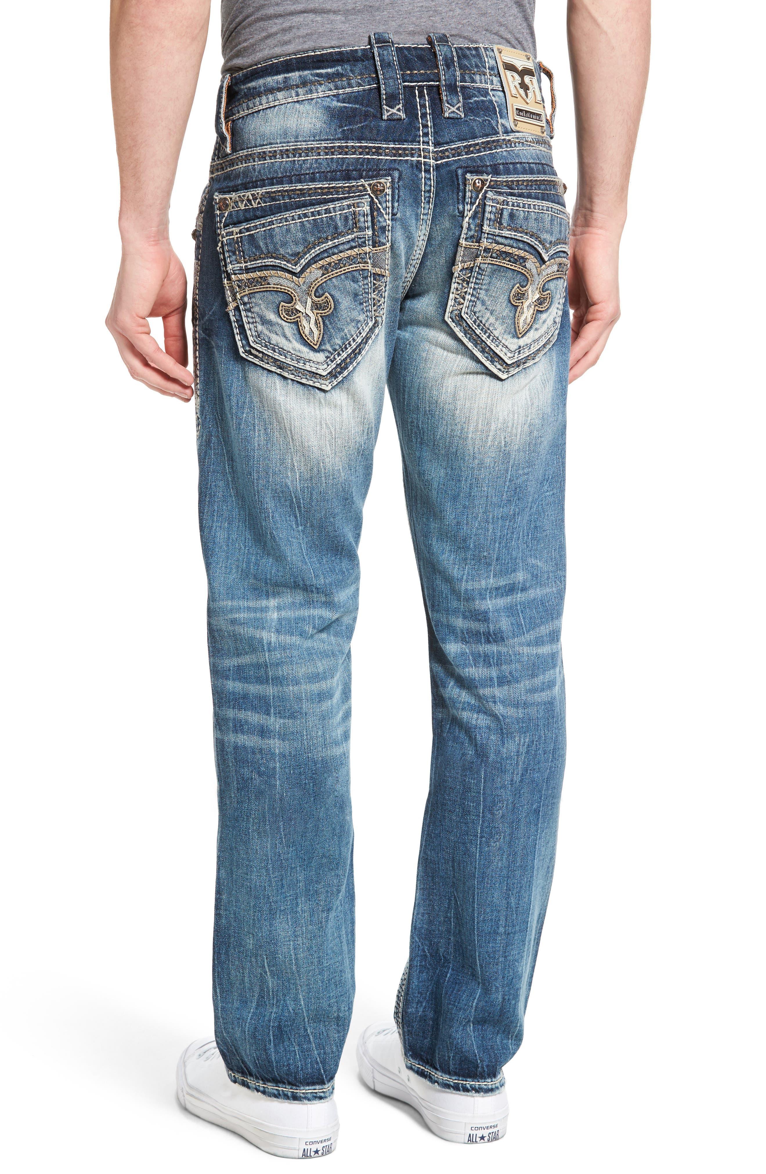 Alternate Image 2  - Rock Revival Straight Leg Jeans