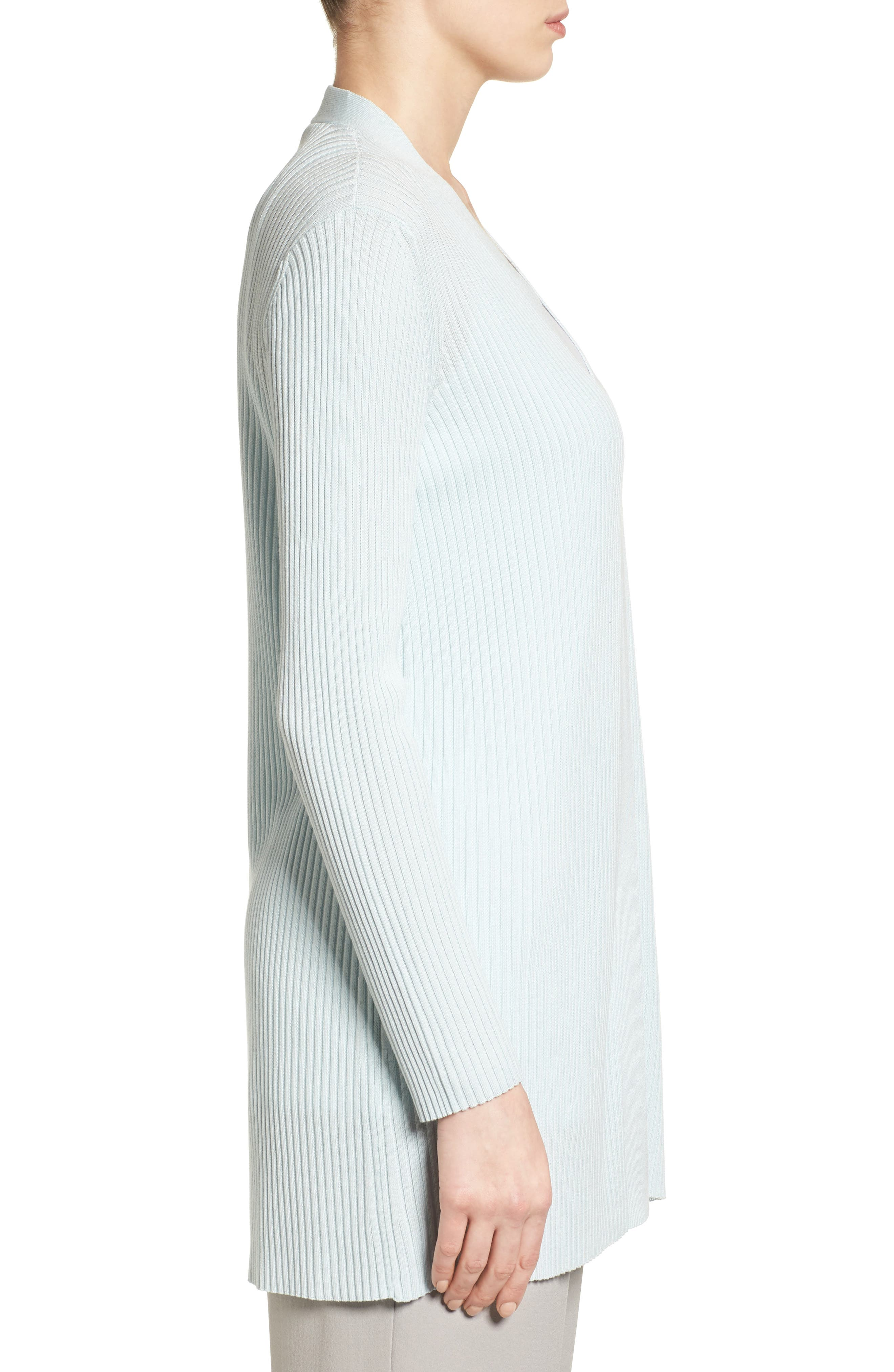 Alternate Image 3  - Eileen Fisher Rib Knit Cardigan (Regular & Petite)