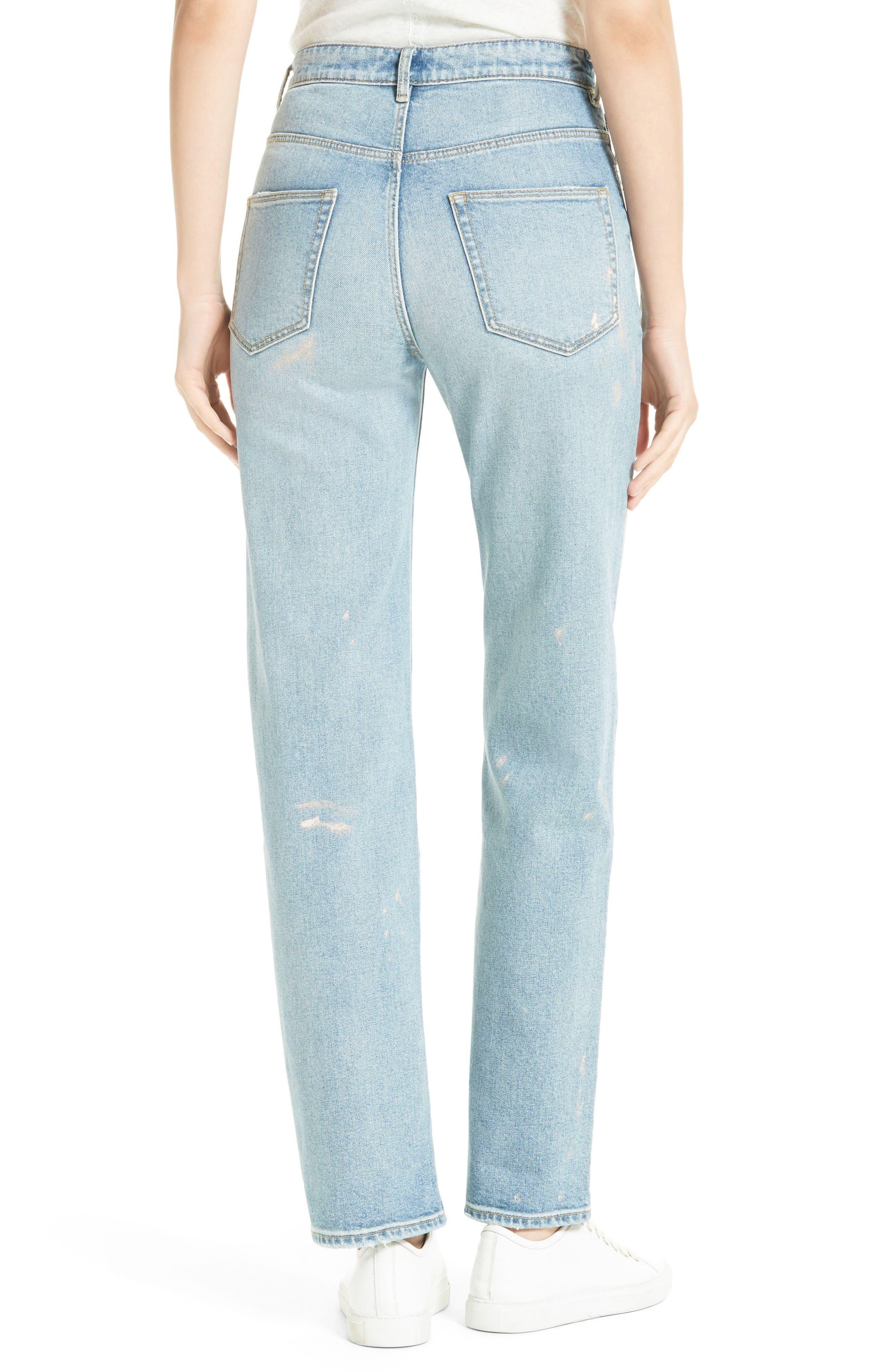 Alternate Image 3  - La Vie Rebecca Taylor Paint Splatter Straight Leg Jeans