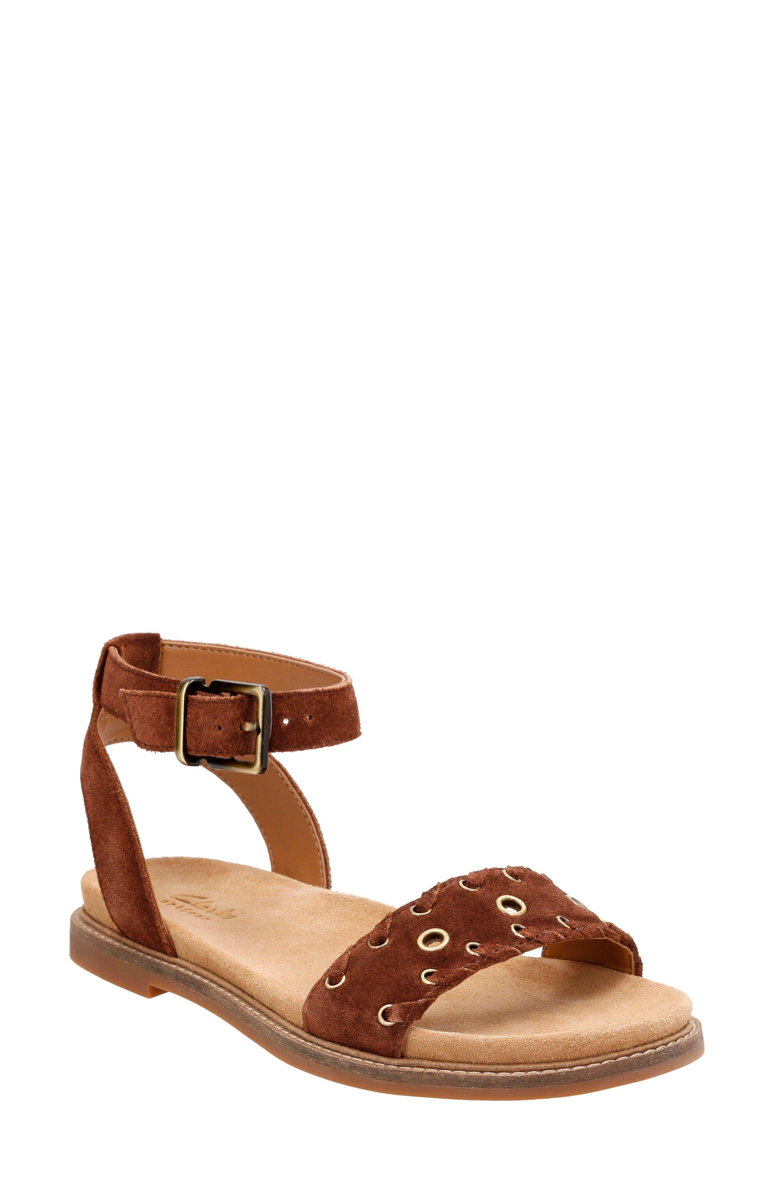 Clarks® Corsio Amelia Ankle Strap Sandal (Women)