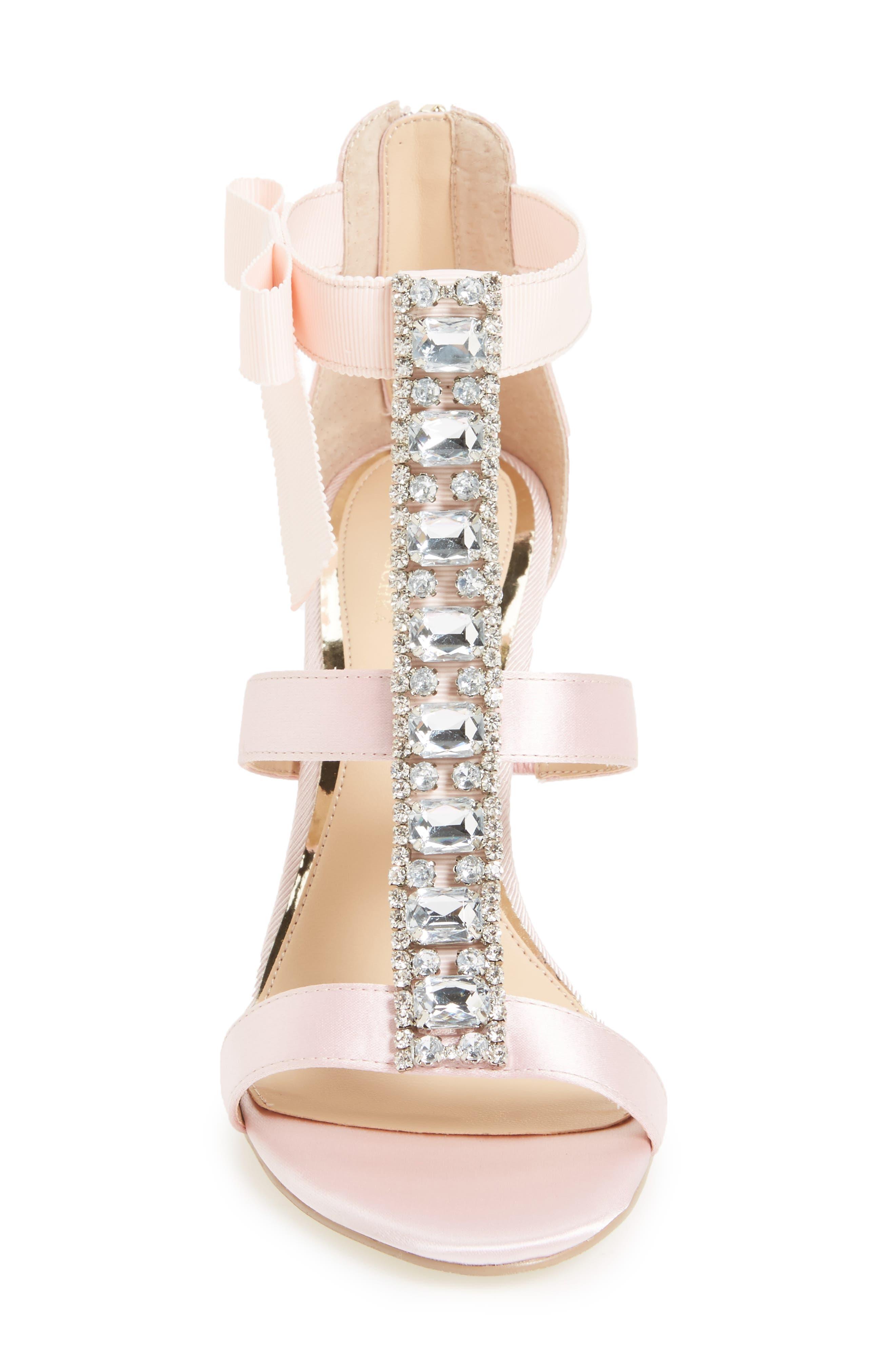 Alternate Image 3  - Jewel Badgley Mischka Henderson Embellished Bow Sandal (Women)