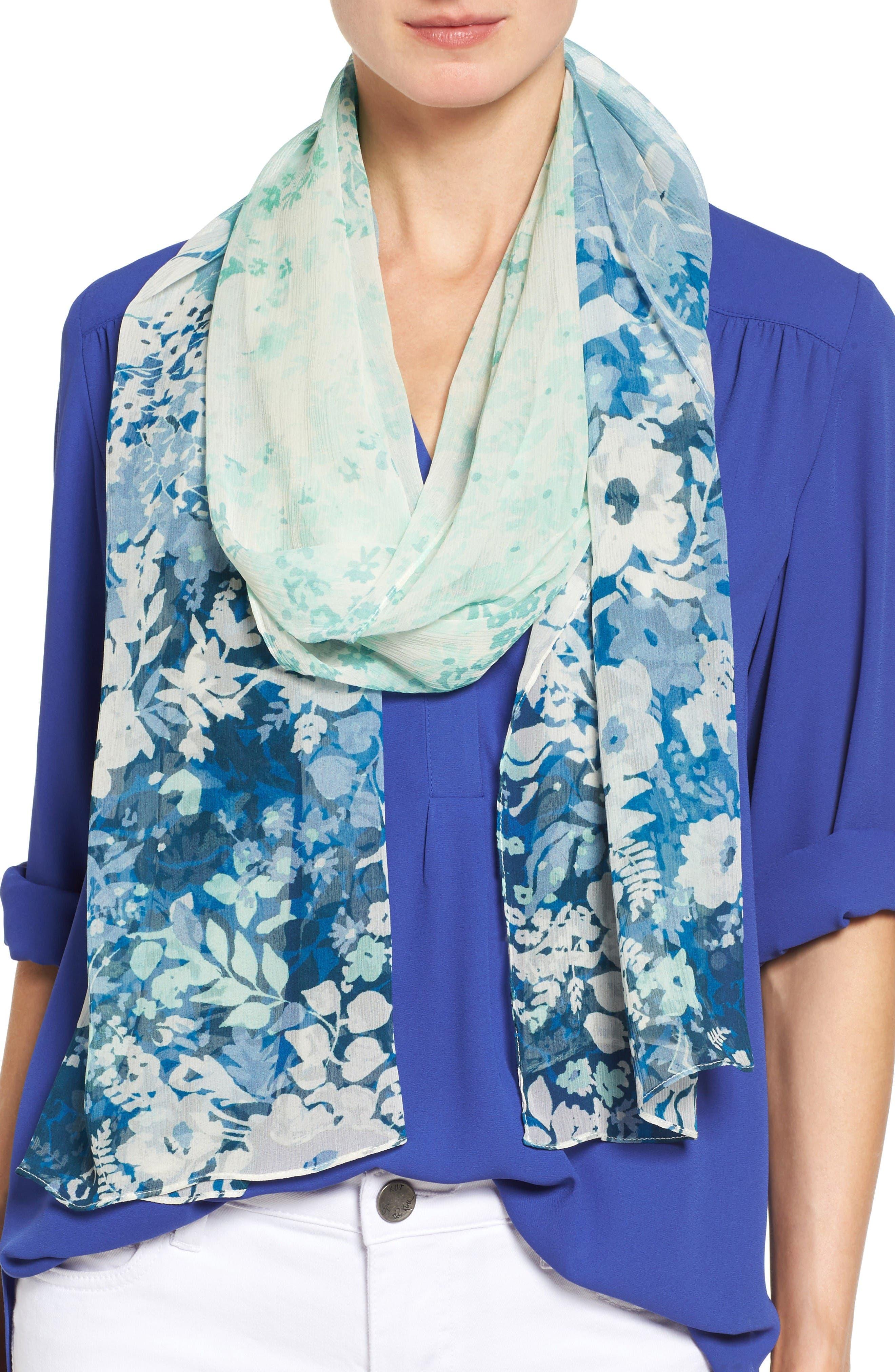Nordstrom Sonnet Floral Silk Scarf