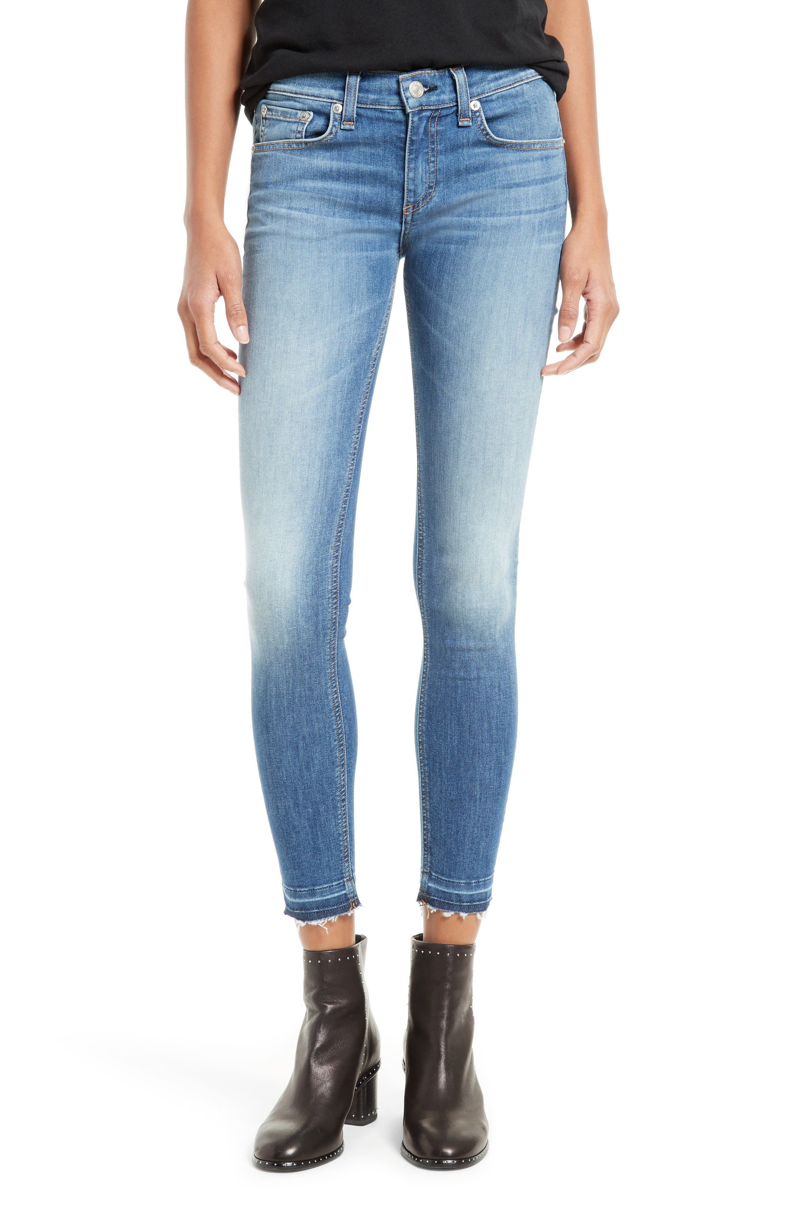 Alternate Image 1 Selected - rag & bone/JEAN Capri Skinny Jeans (Clean Lilly Dale)