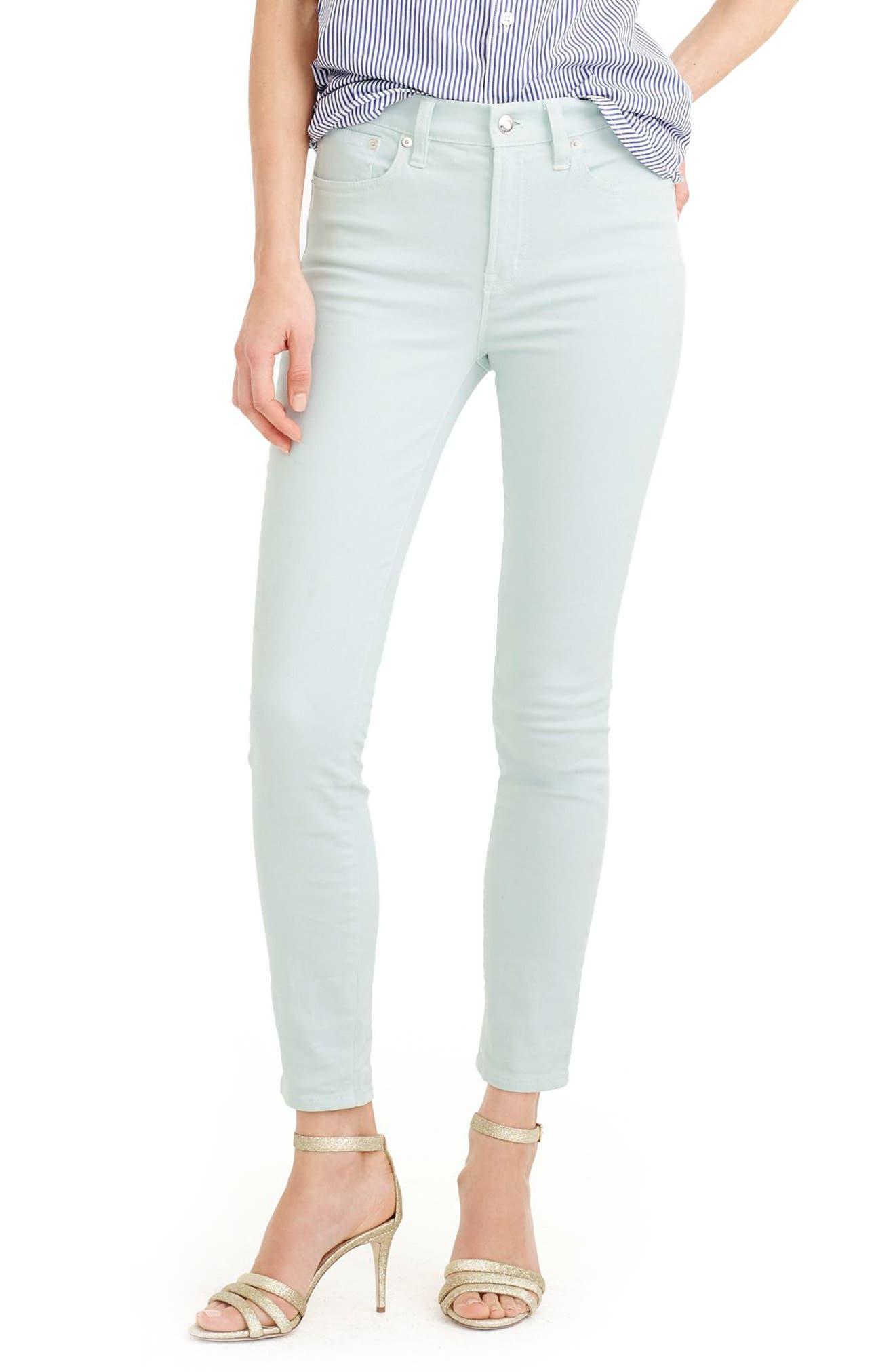 Main Image - J.Crew Lookout High Waist Garment Dyed Crop Jeans