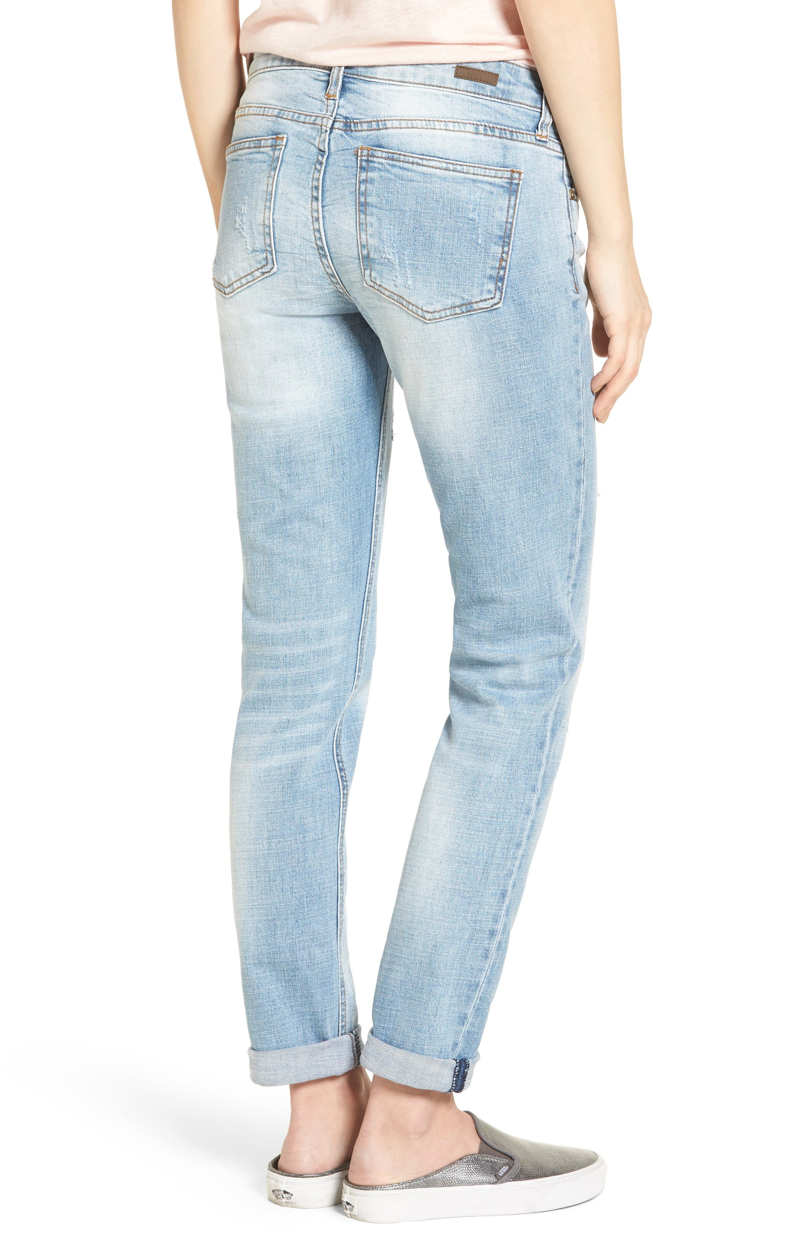 Alternate Image 2  - KUT from the Kloth Catherine Distressed Boyfriend Jeans (Hail)