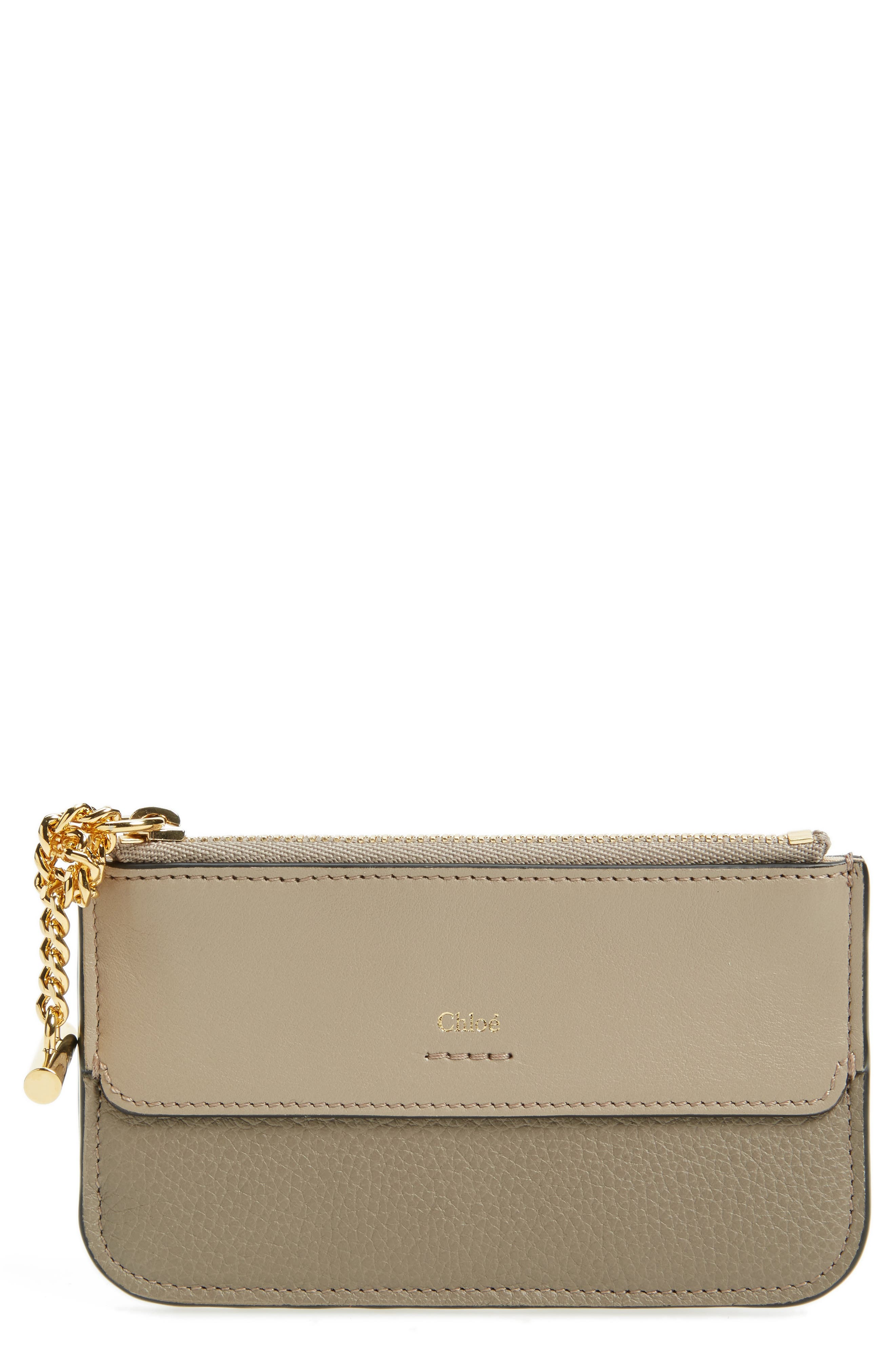 Alternate Image 1 Selected - Chloé Joe Calfskin Leather Coin Pouch