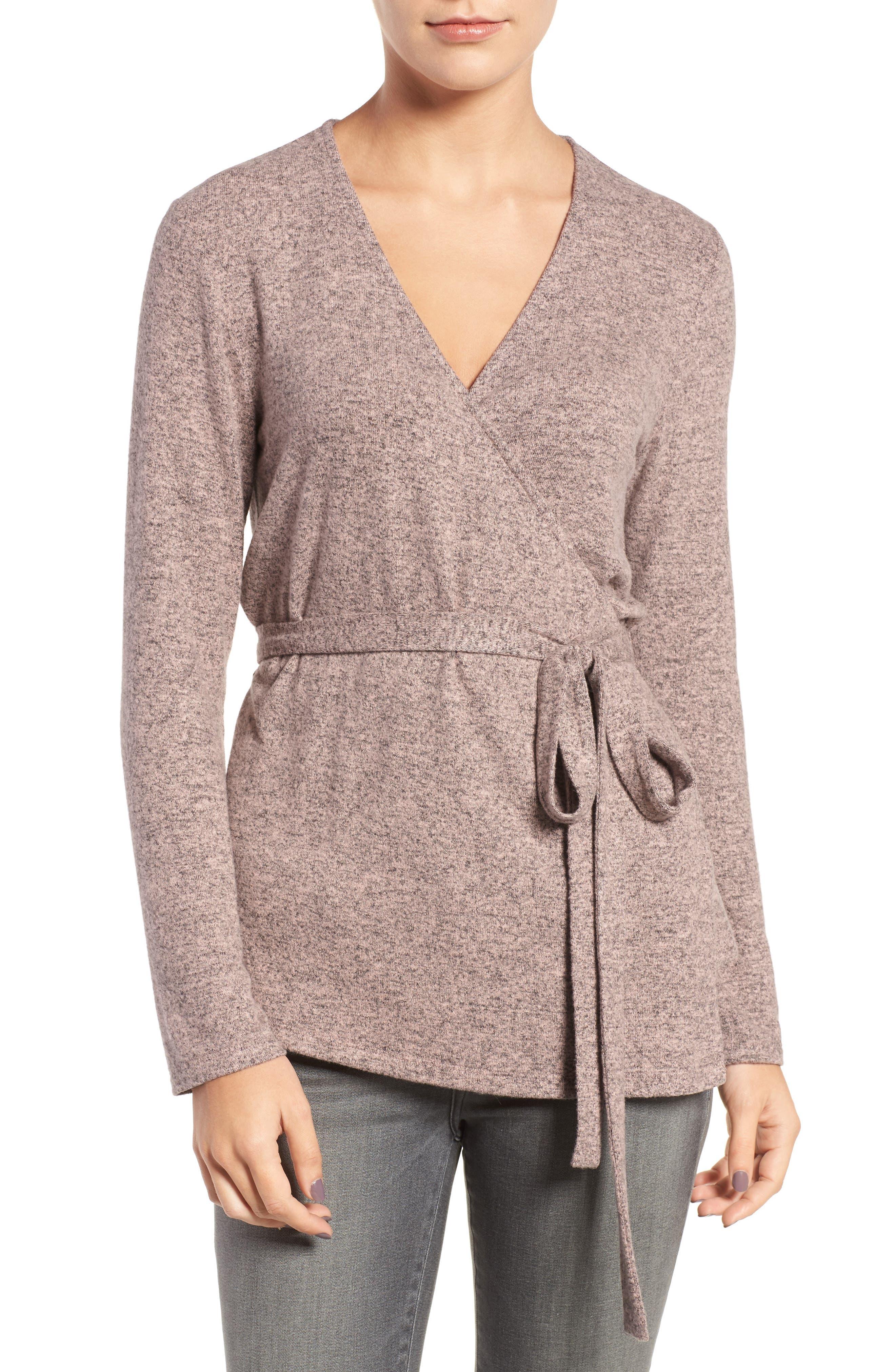 Main Image - Trouvé Wrap Sweater