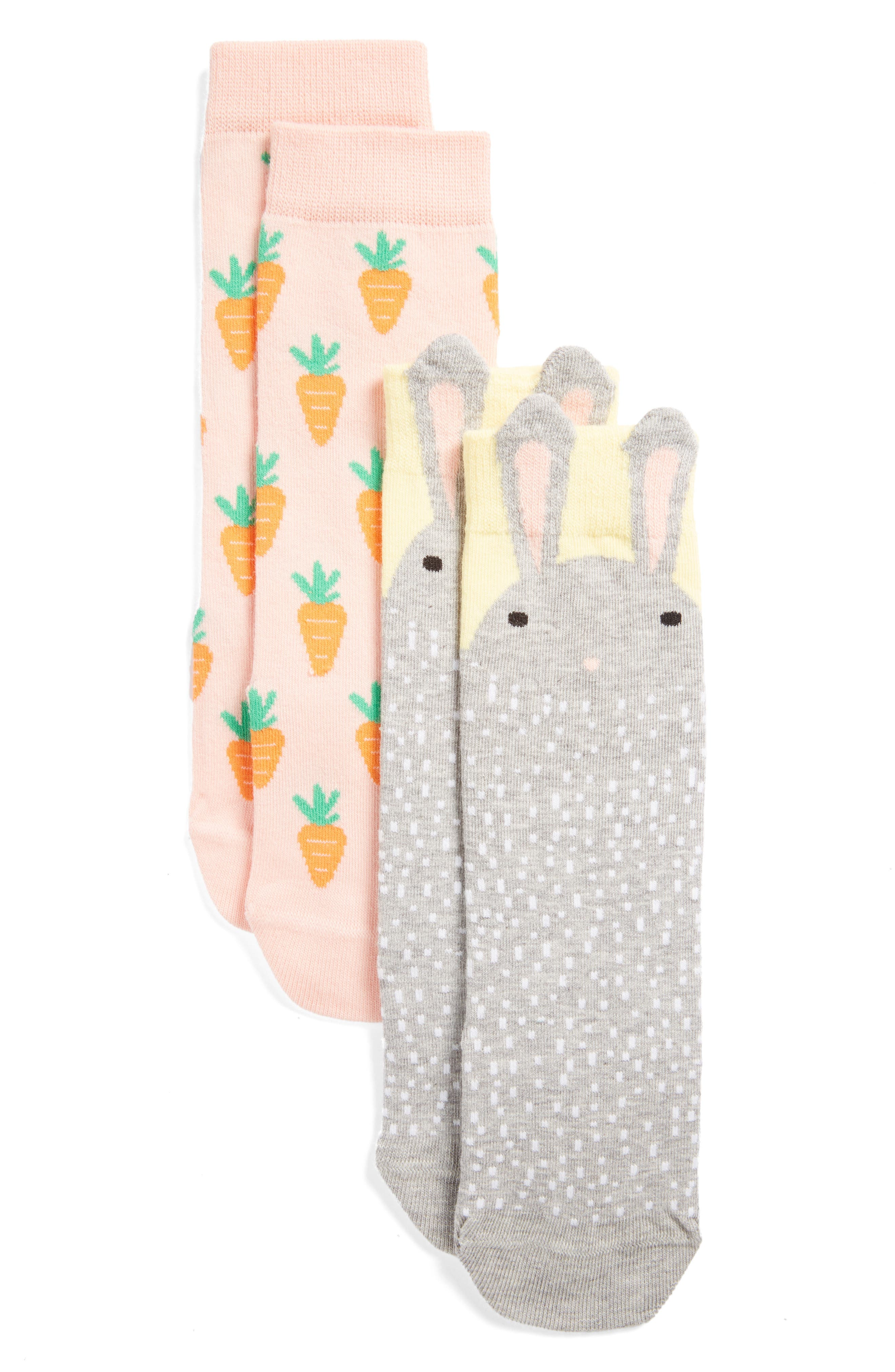 TUCKER + TATE Baby Bunny Assorted 2-Pack Socks