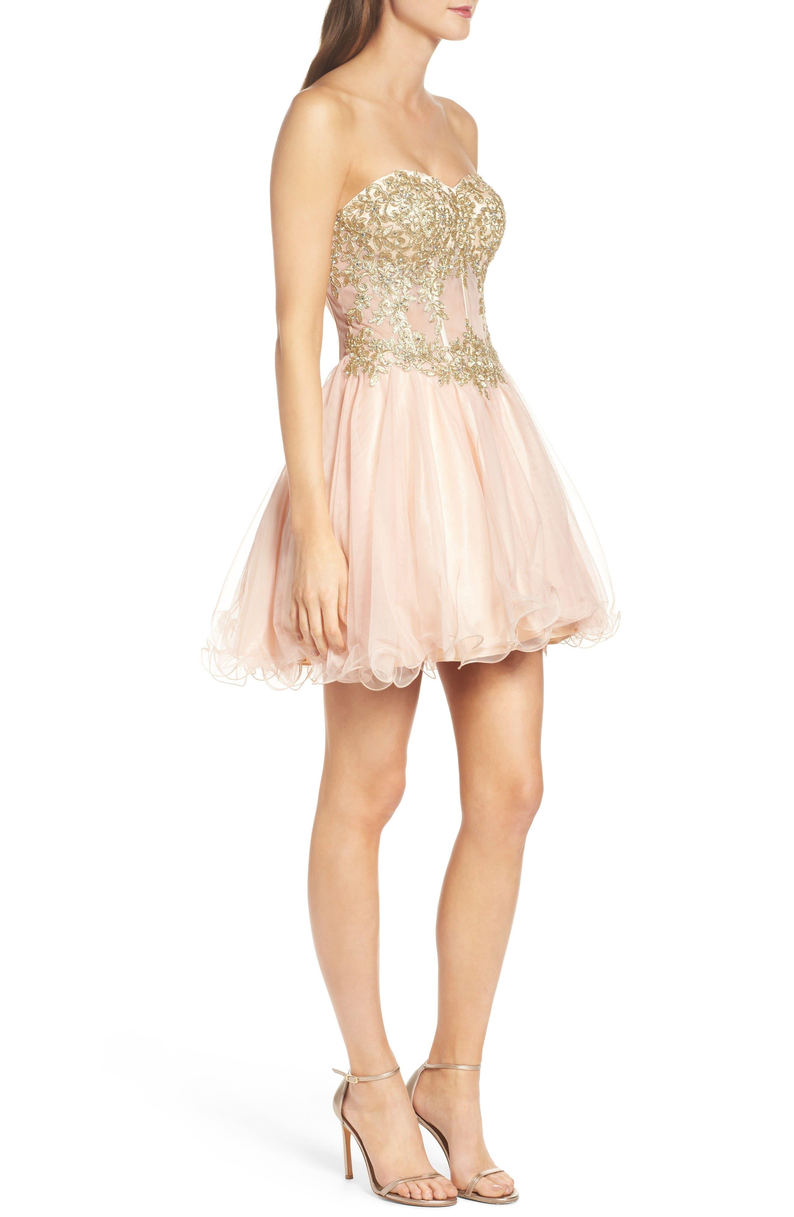 Alternate Image 3  - Blondie Nites Strapless Bustier Dress