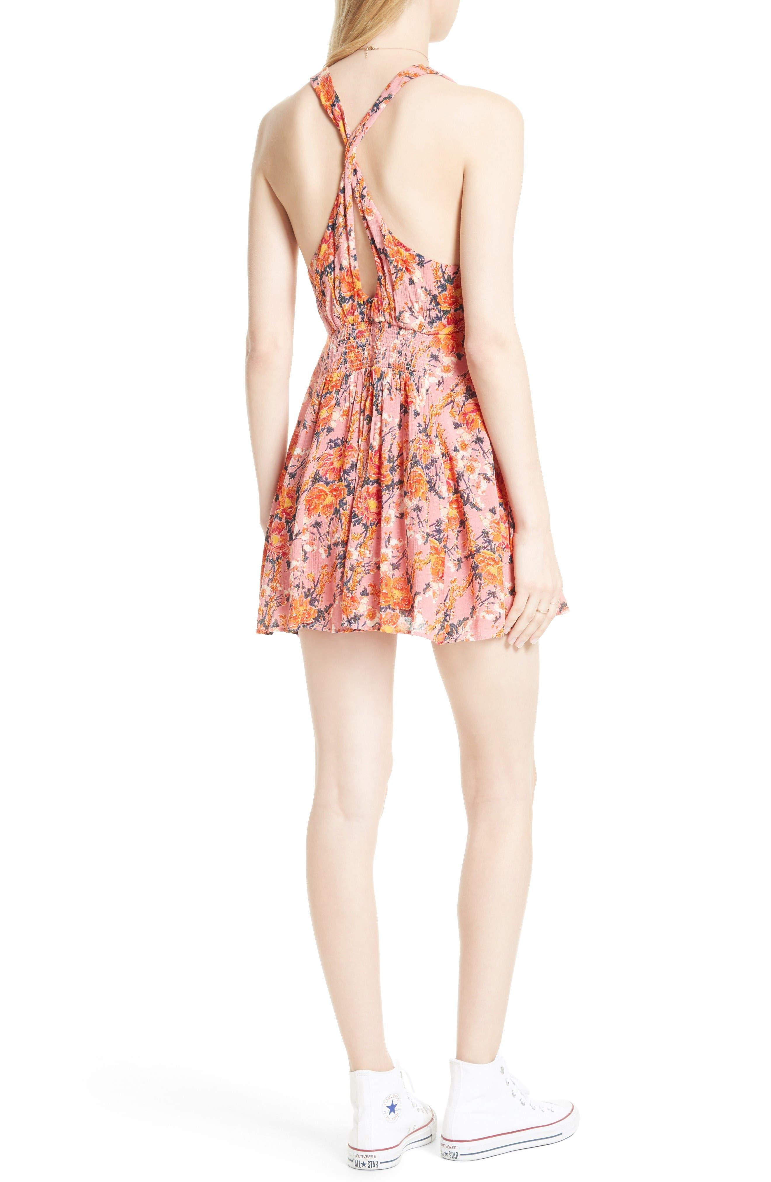 Alternate Image 2  - Free People Floral Print Minidress