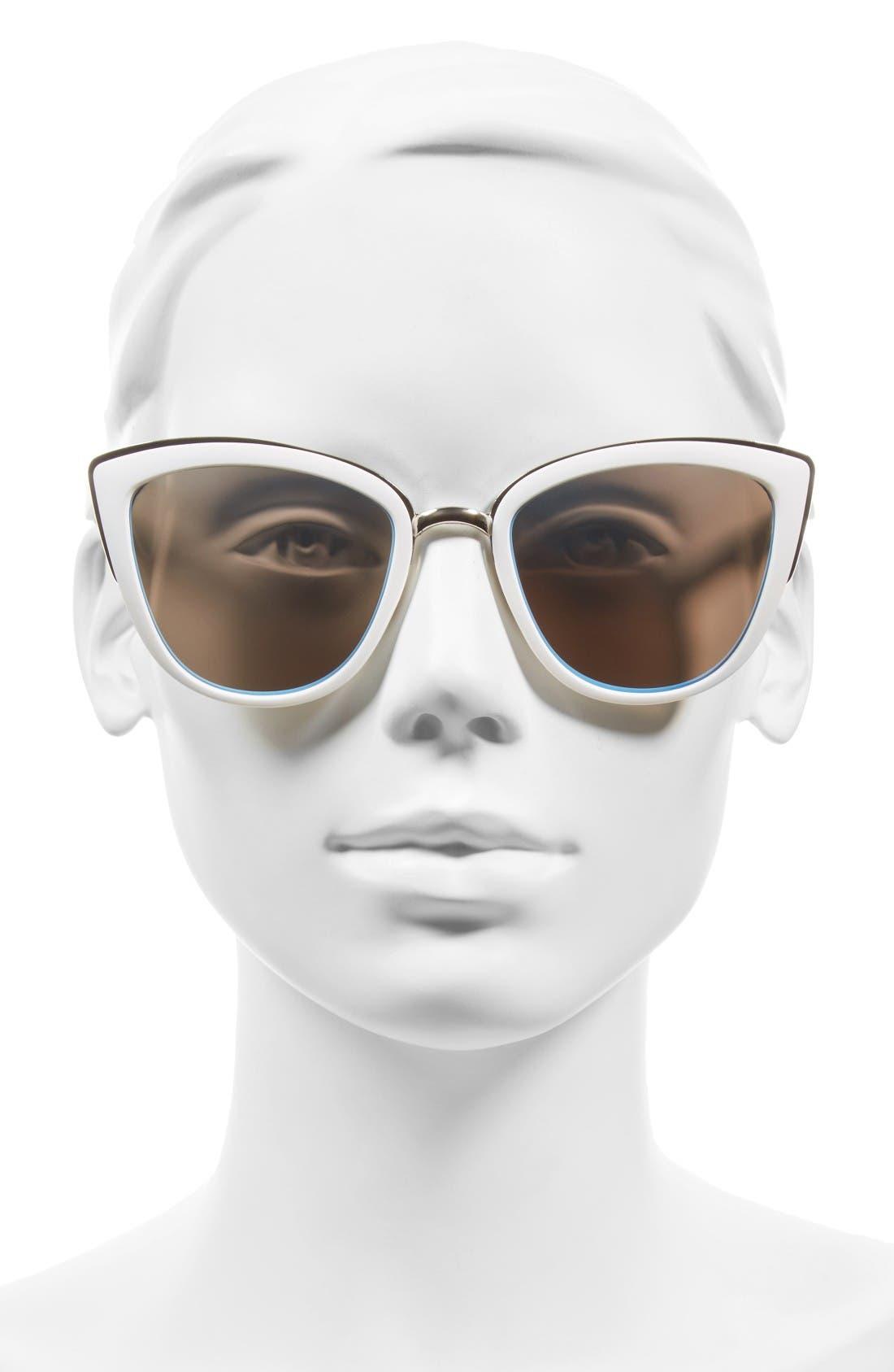 Alternate Image 2  - BP. 55mm Metal Rim Cat Eye Sunglasses