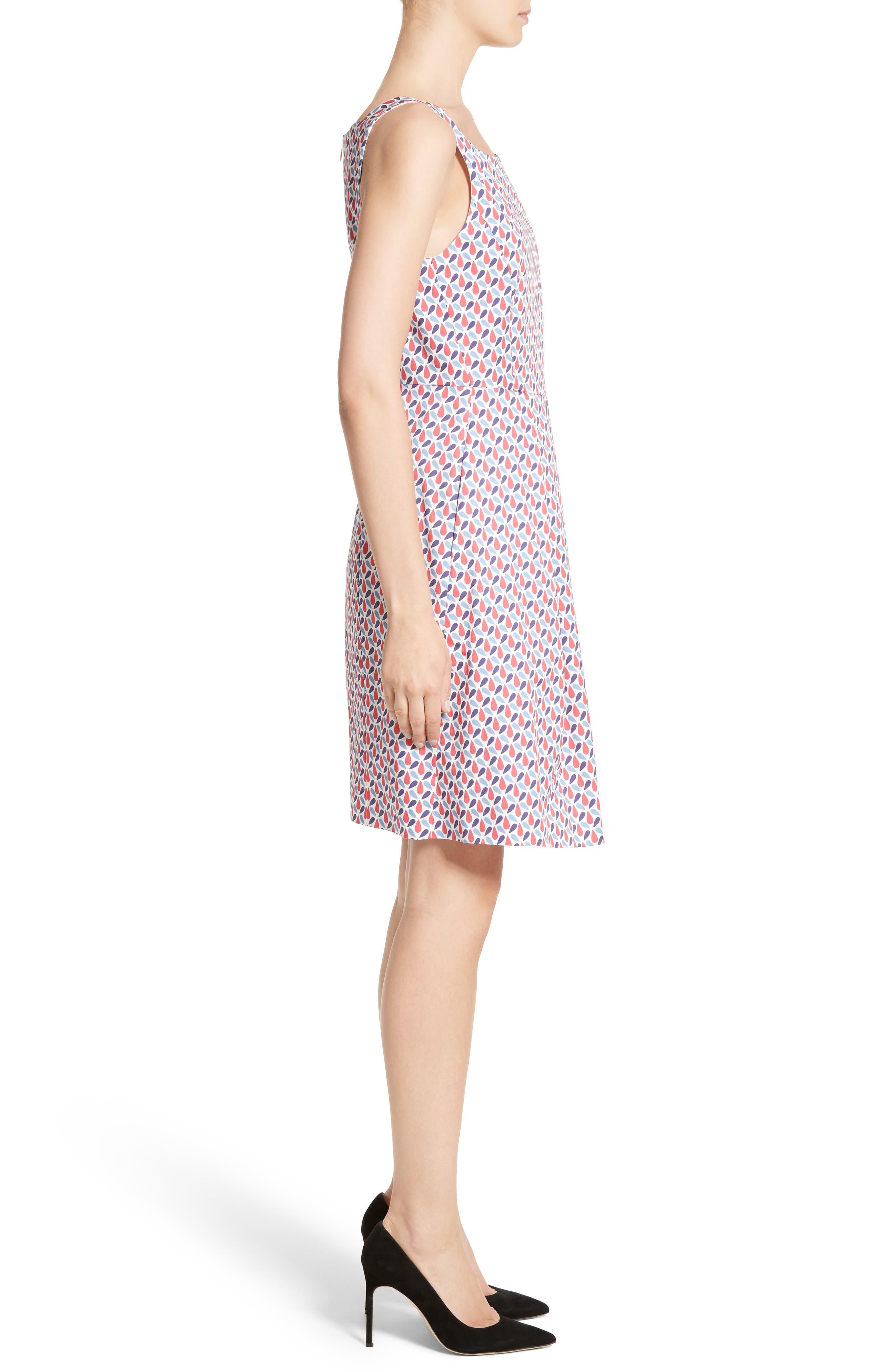 Alternate Image 5  - Armani Collezioni Print Cotton Fit & Flair Dress