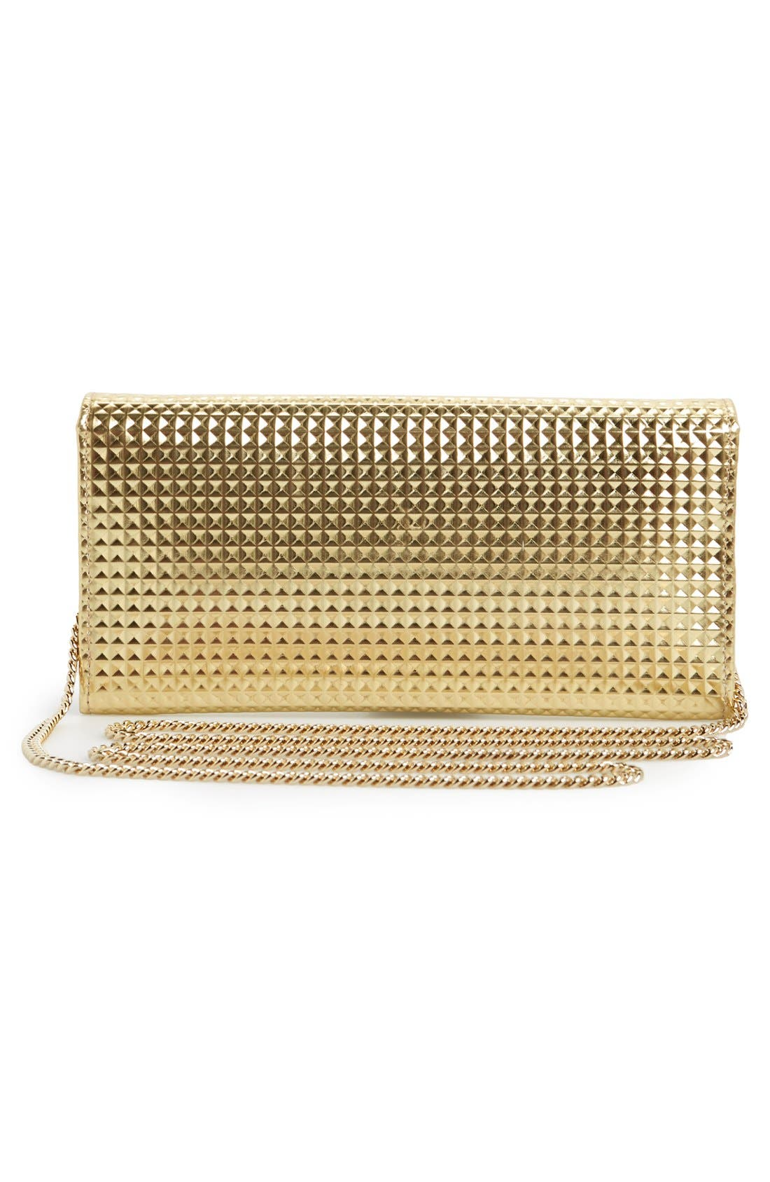 Alternate Image 6  - Jimmy Choo 'Milla' Pyramid Embossed Metallic Leather Flap Clutch