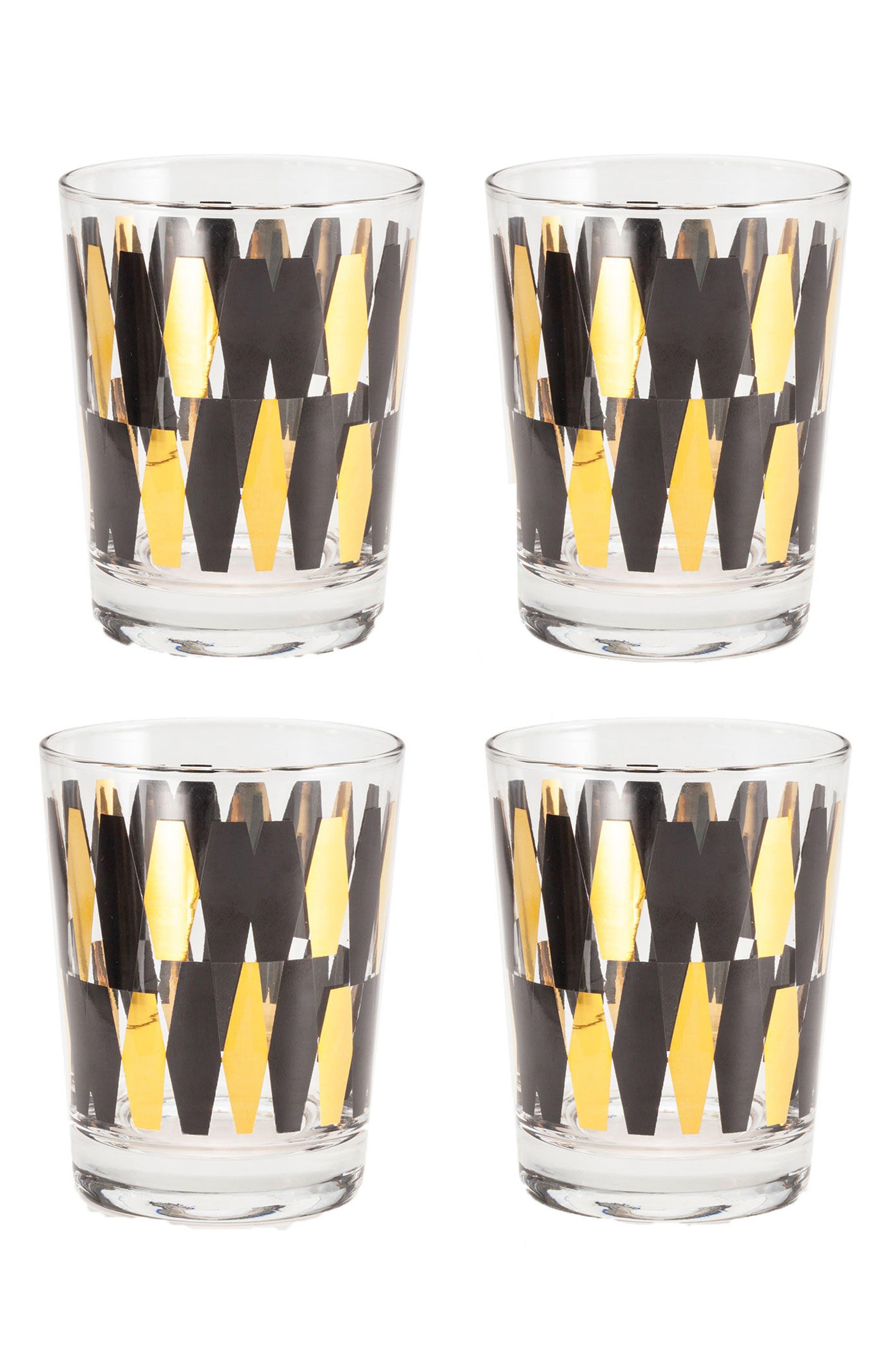 Rosanna Monte Carlo Set of 4 Double Old Fashioned Glasses