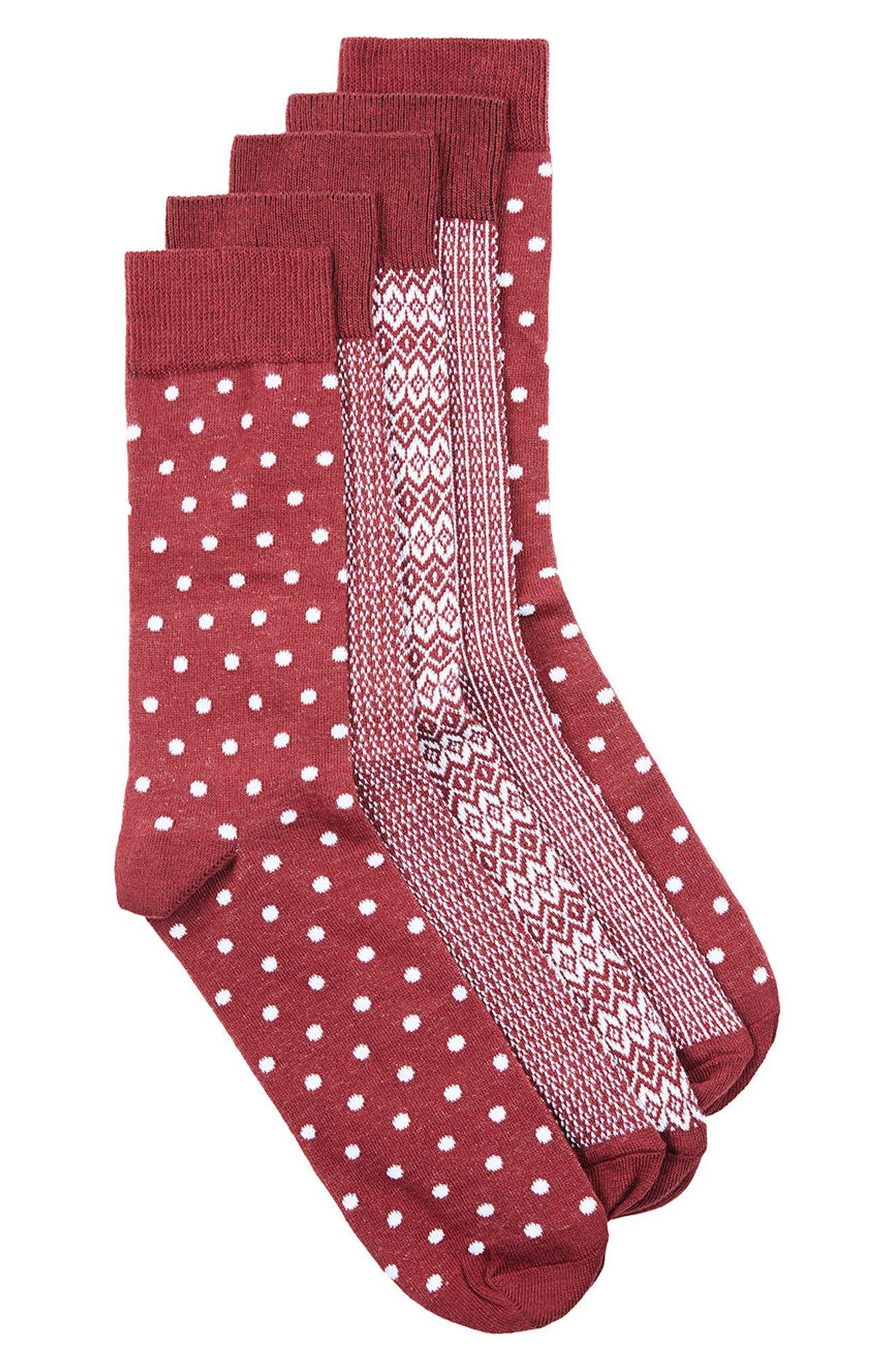 Topman Mixed Pattern 5-Pack Socks
