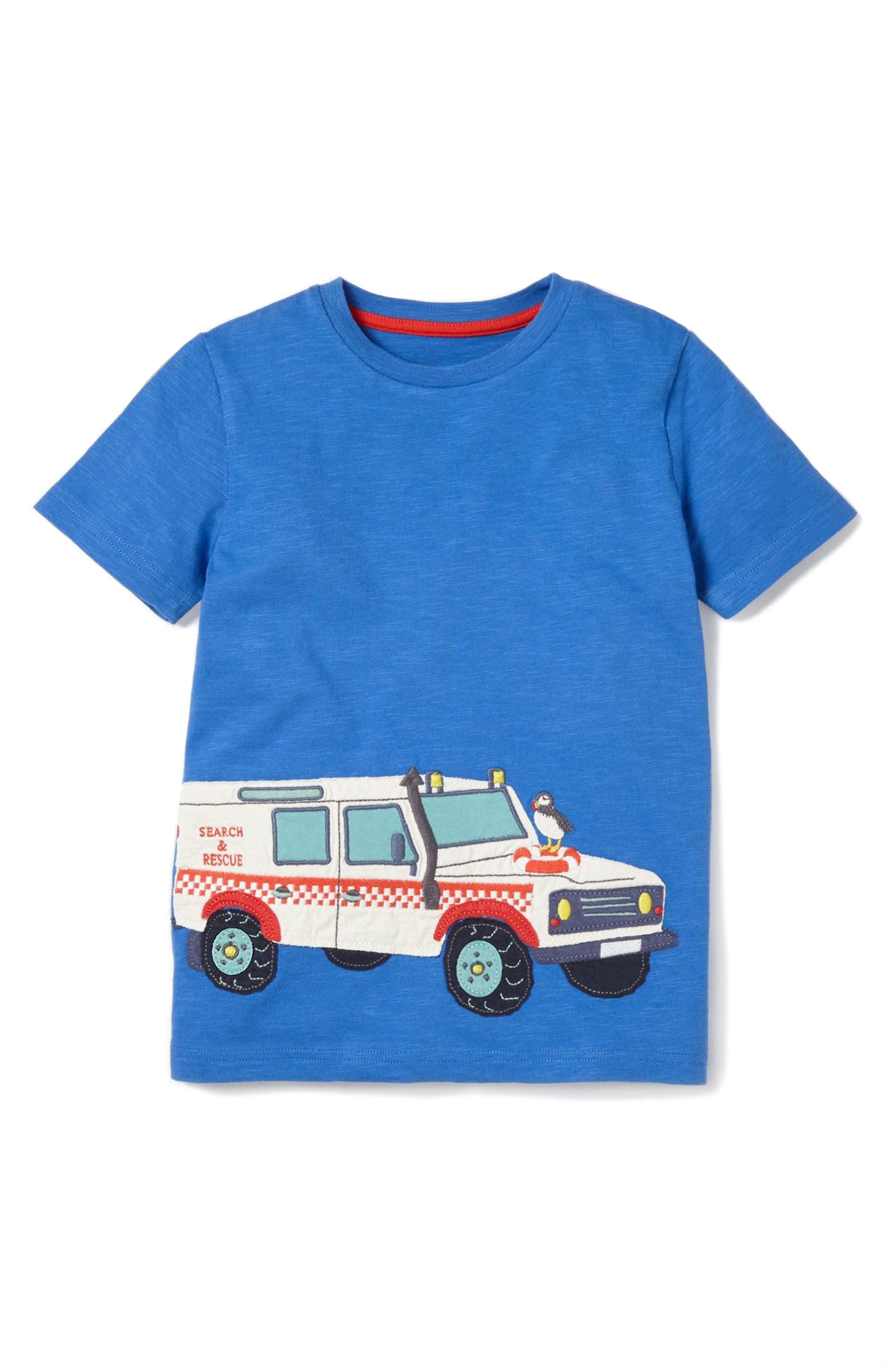 MINI BODEN Vehicle Appliqué T-Shirt