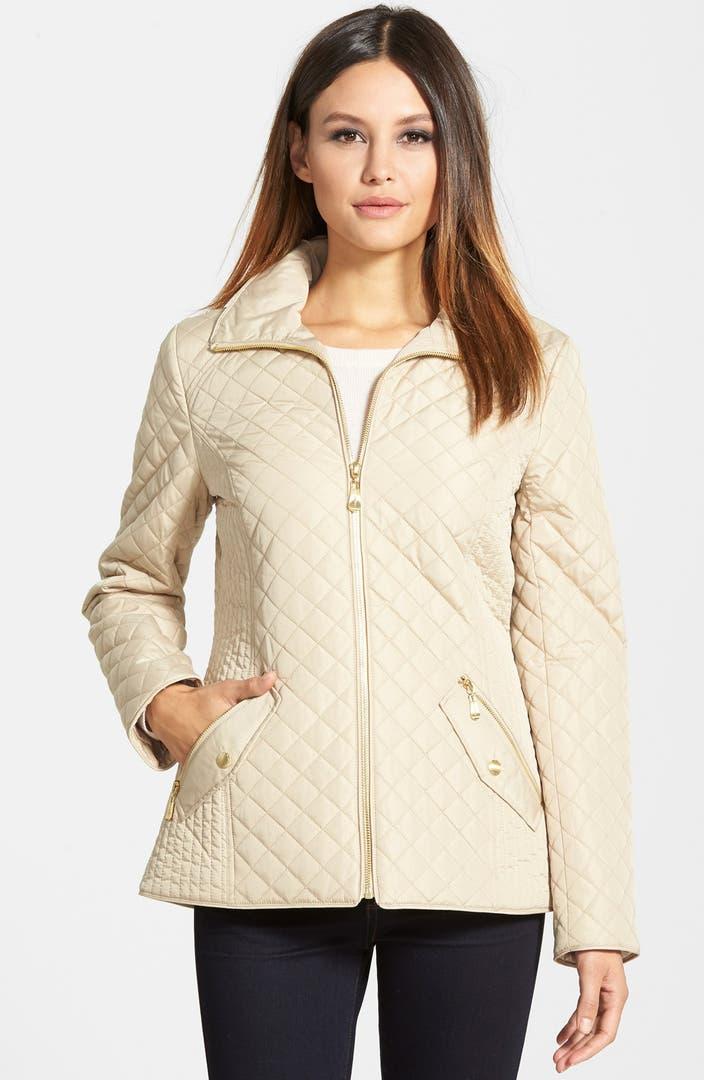 Ellen Tracy Quilted Front Zip Jacket Nordstrom