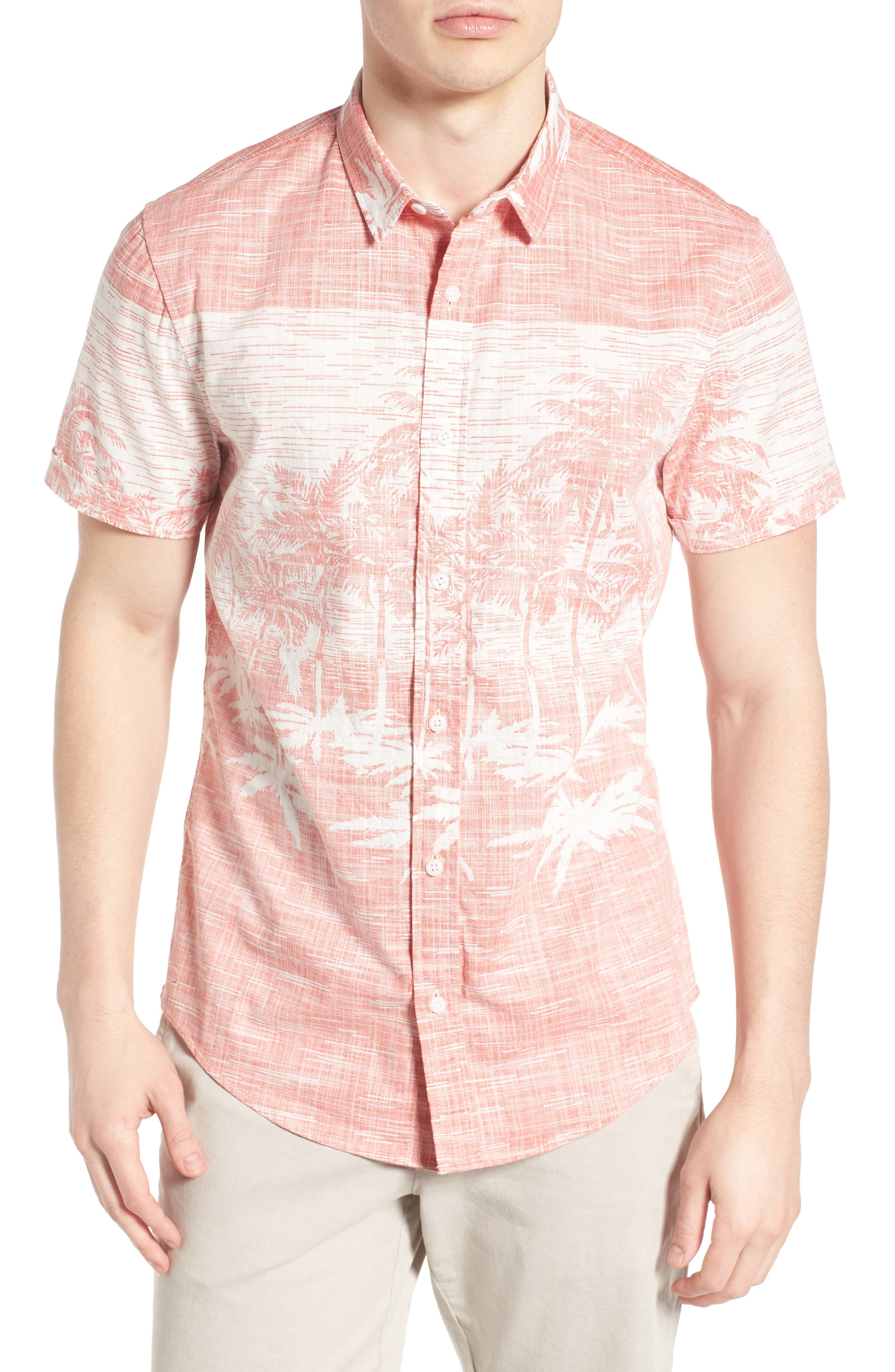 1901 Palm Print Woven Shirt