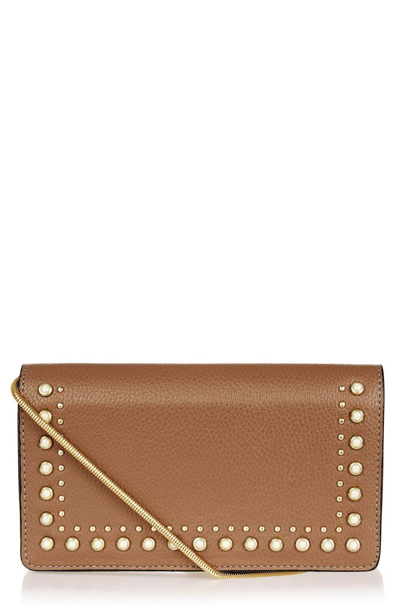 Alternate Image 1 Selected - Topshop Orla Stud Faux Leather Crossbody