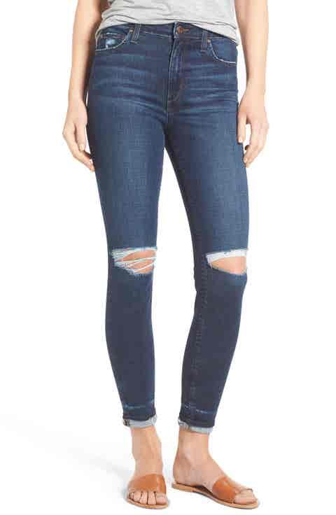 Joe's Flawless - Charlie Markie High Rise Crop Skinny Jeans (Kennide)