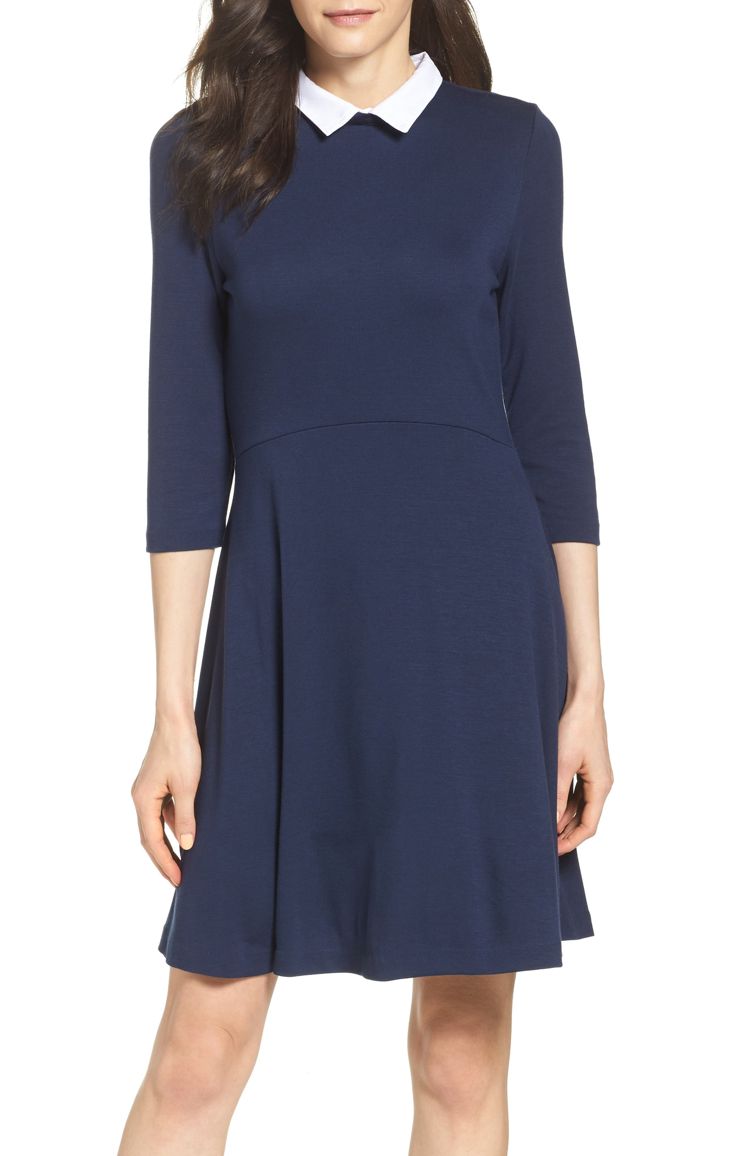 Alternate Image 1 Selected - French Connection 'Fast Fresh' Collared Jersey Fit & Flare Dress