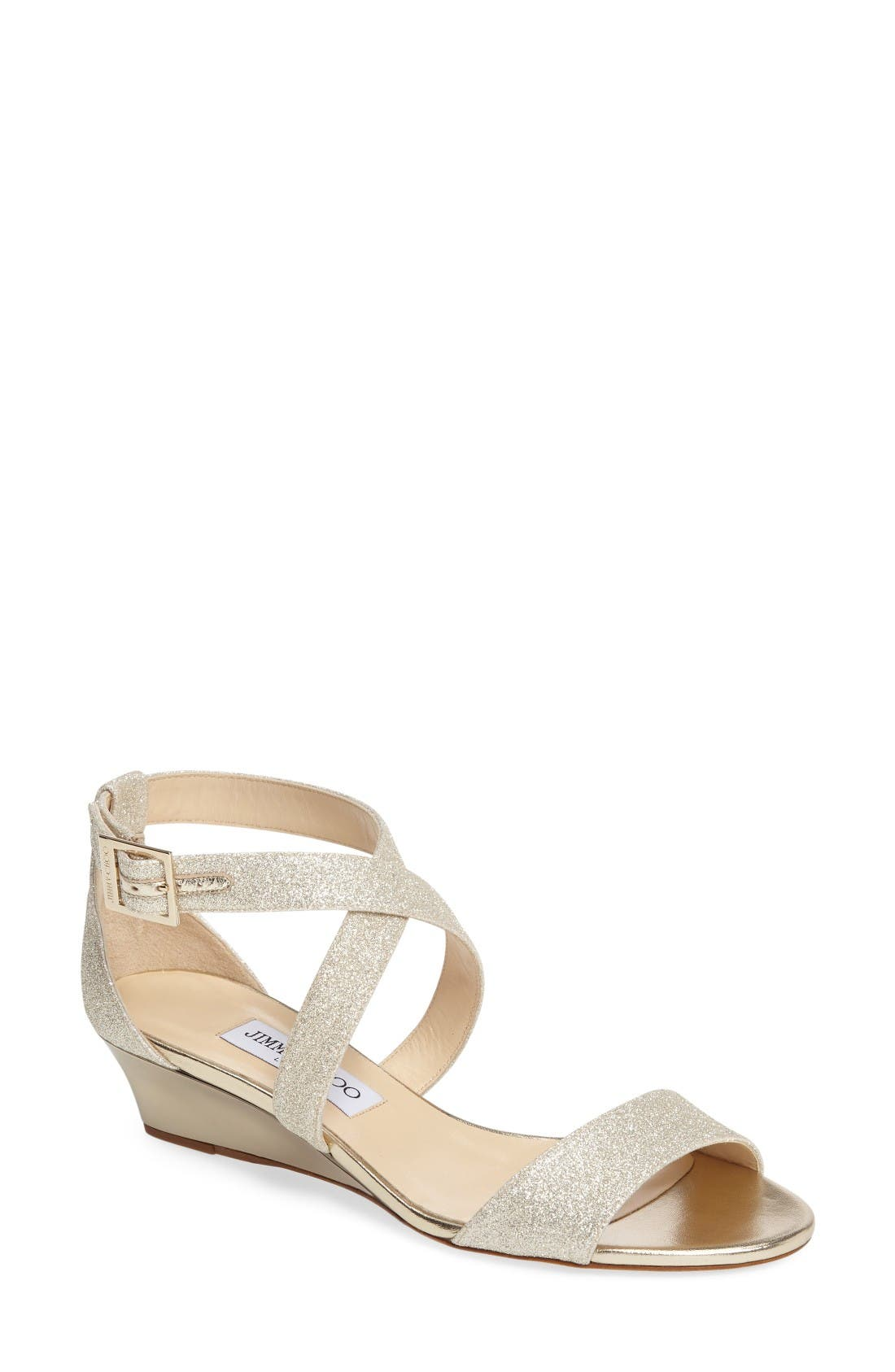 JIMMY CHOO 'Chiara' Strap Wedge Sandal