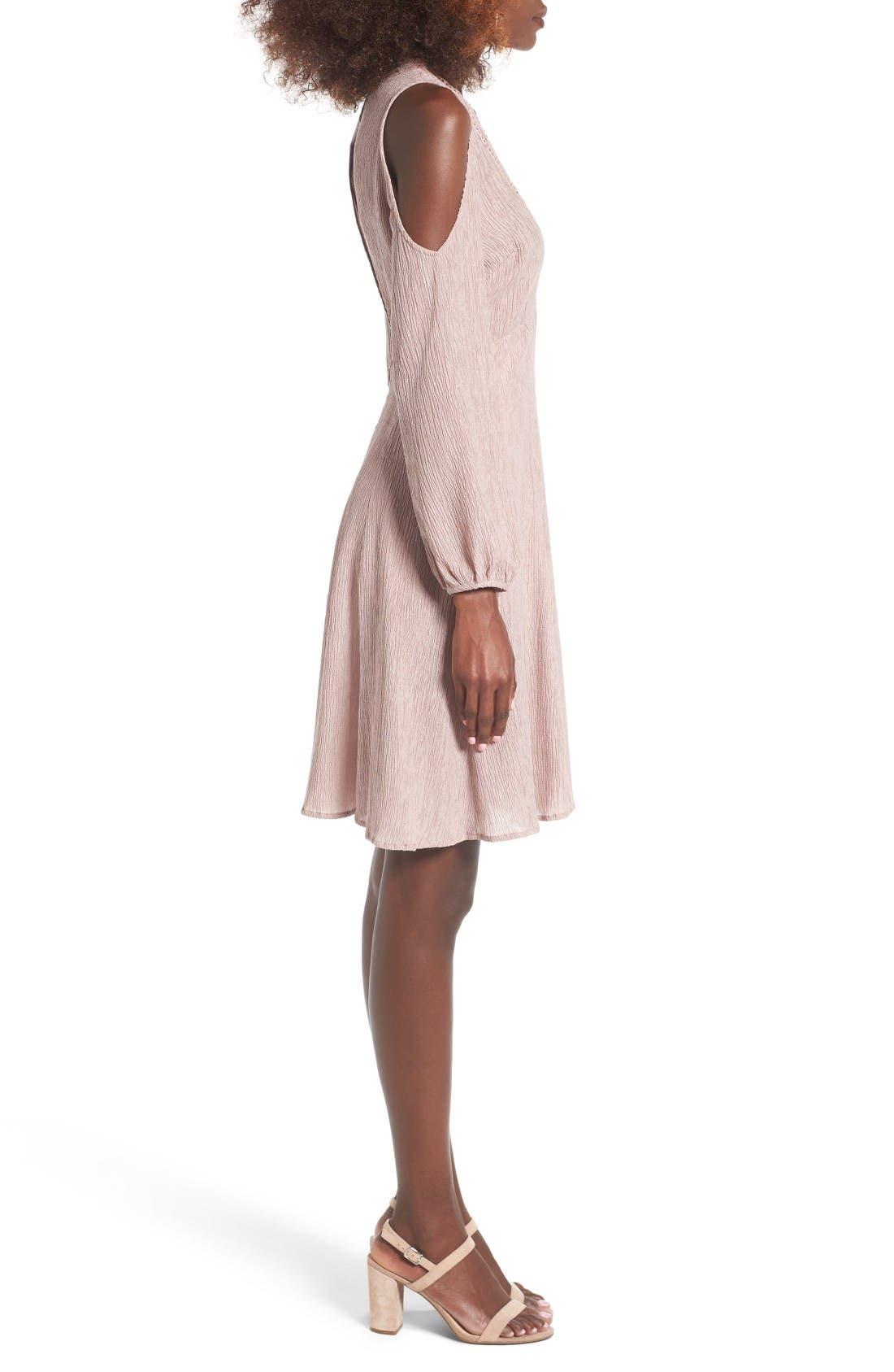 Alternate Image 3  - Lush Cold Shoulder Dress