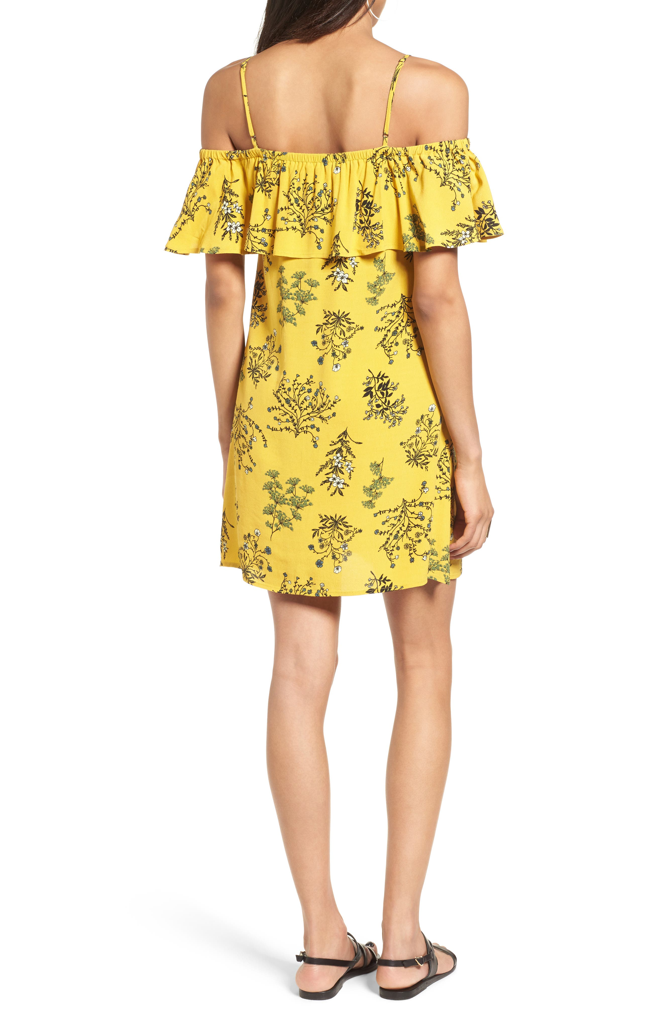 Alternate Image 2  - BP. Ruffle Cold Shoulder Dress