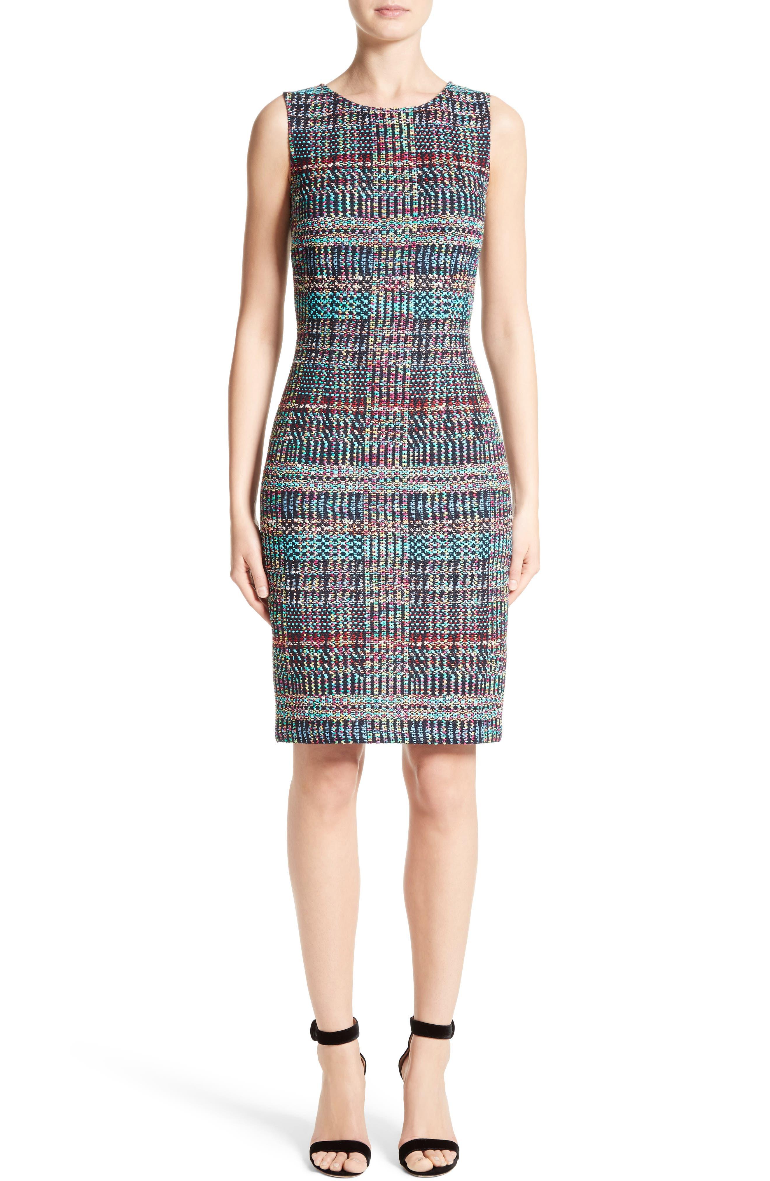 St. John Collection Dara Knit Sheath Dress