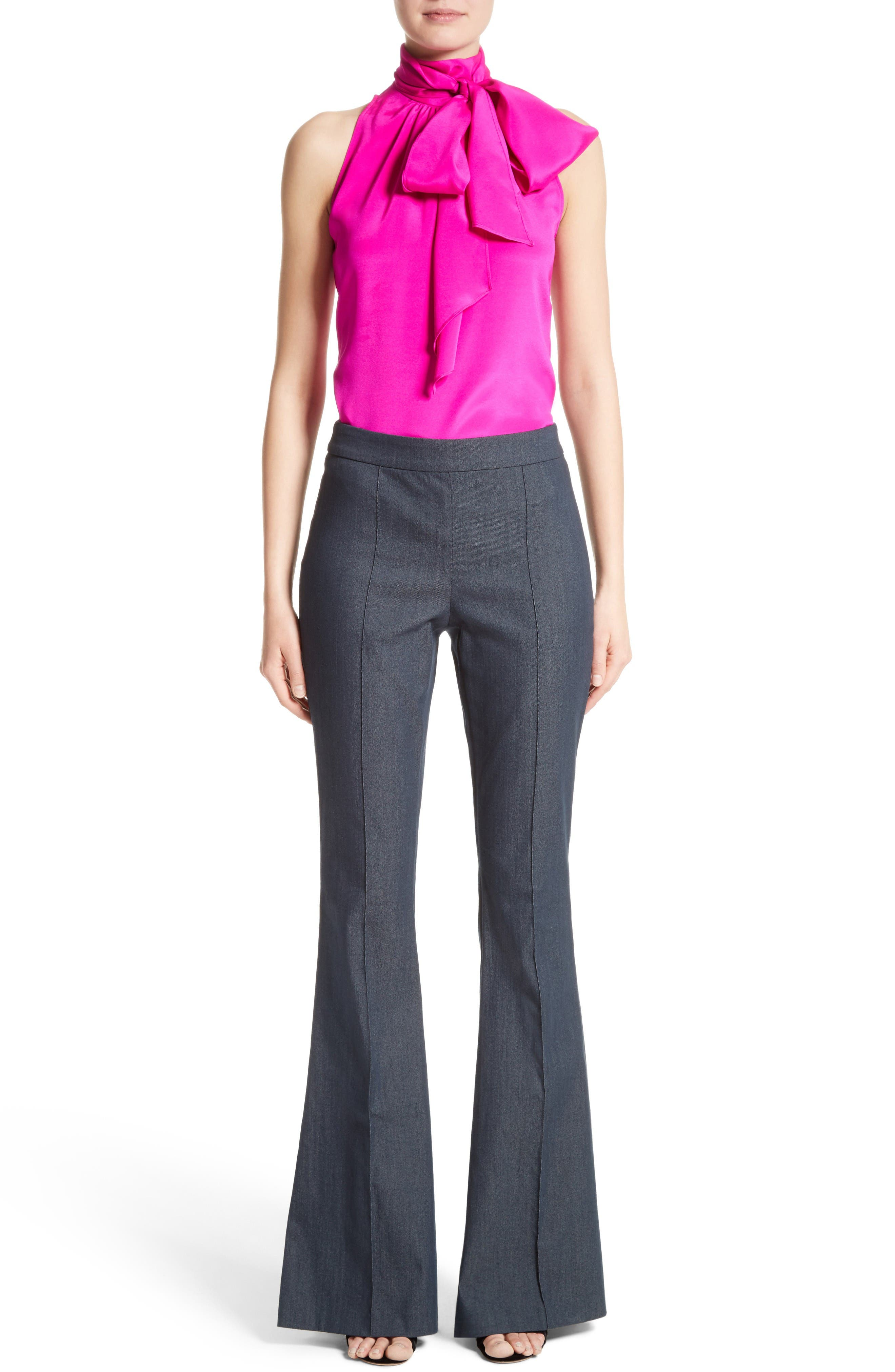 St. John Collection Blouse & Pants Outfit with Accessories