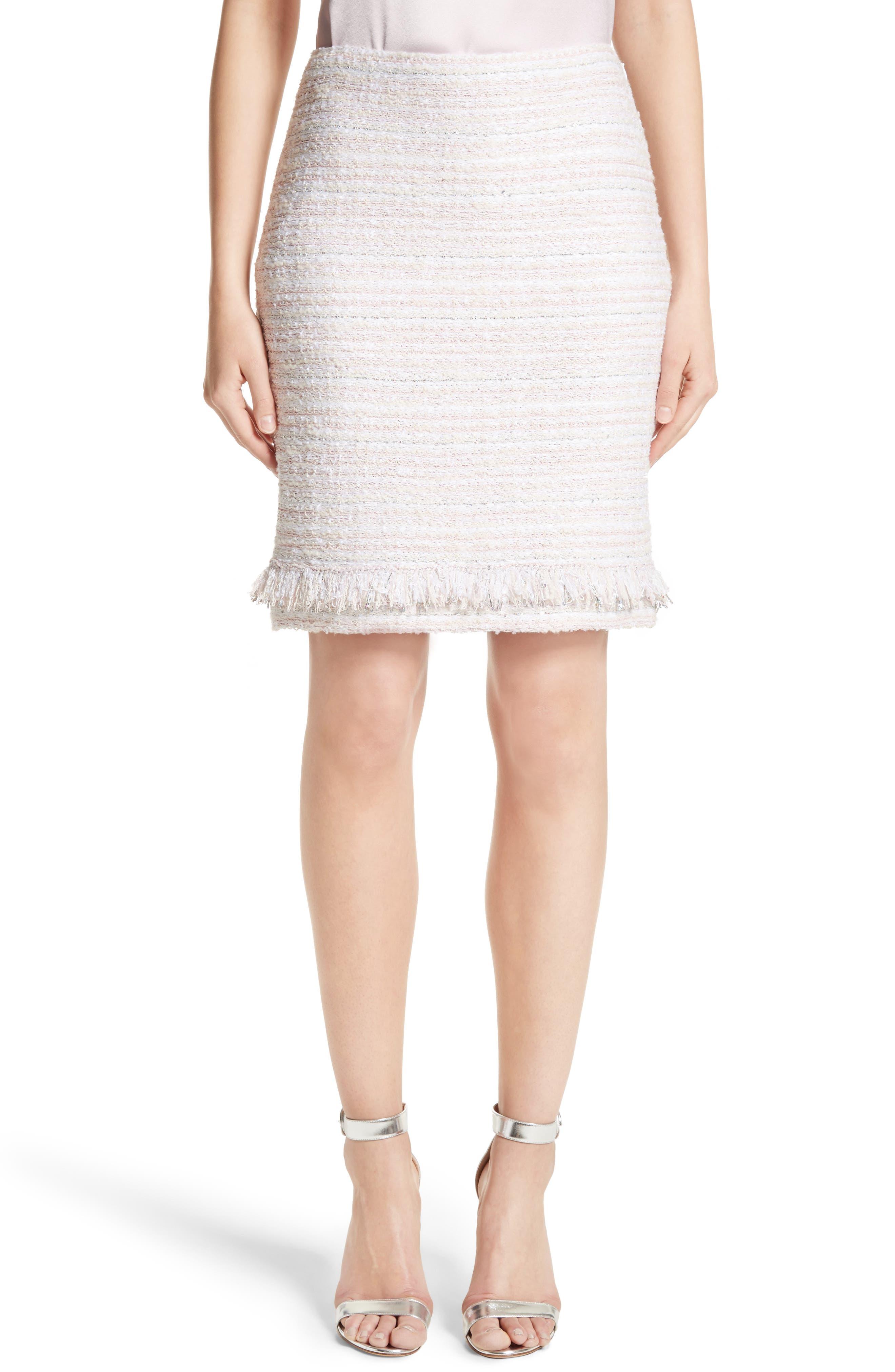 Main Image - St. John Collection Padmesh Tweed Knit Skirt