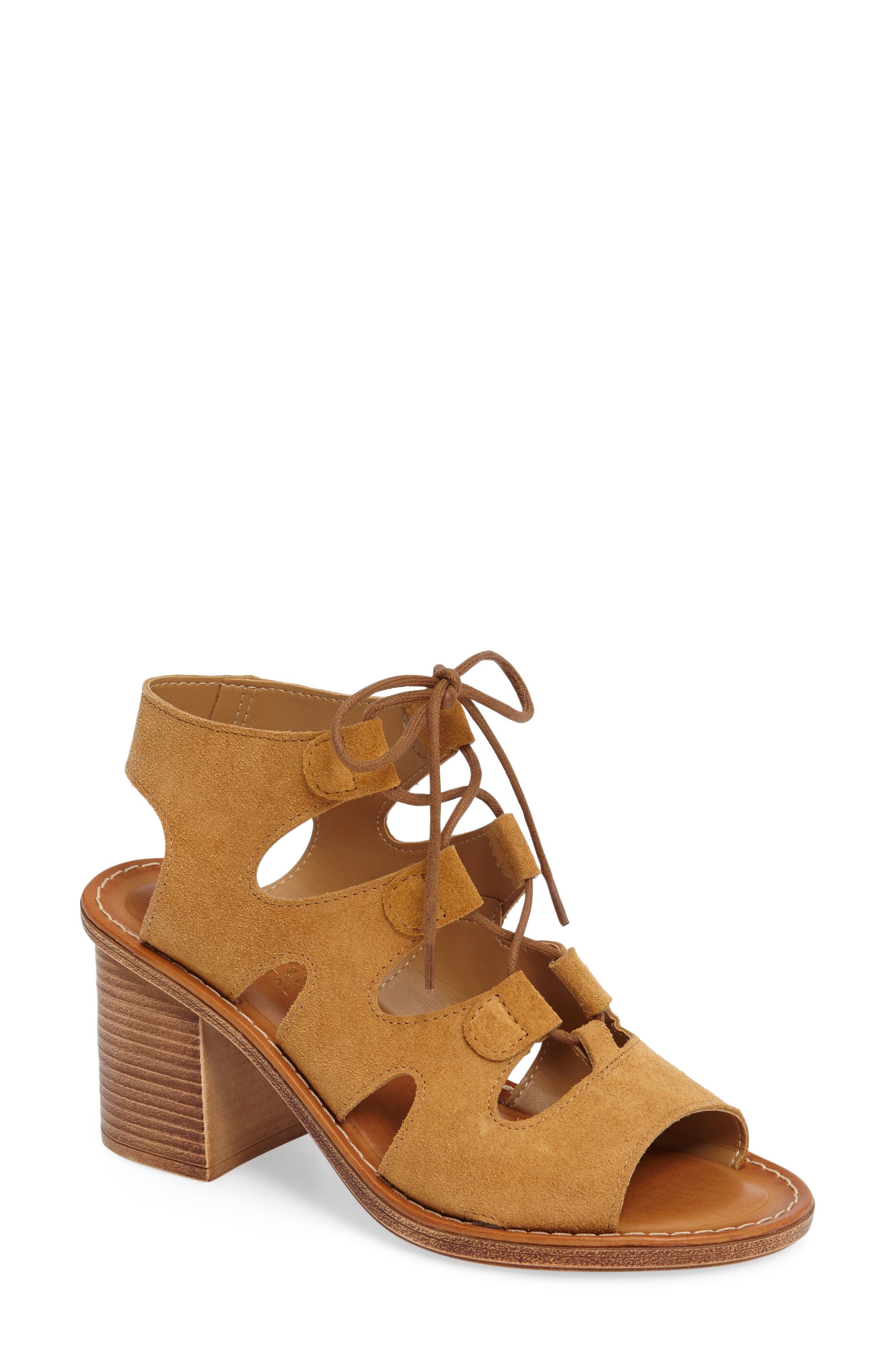 Bella Vita Bre Lace-Up Block Heel Sandal (Women)