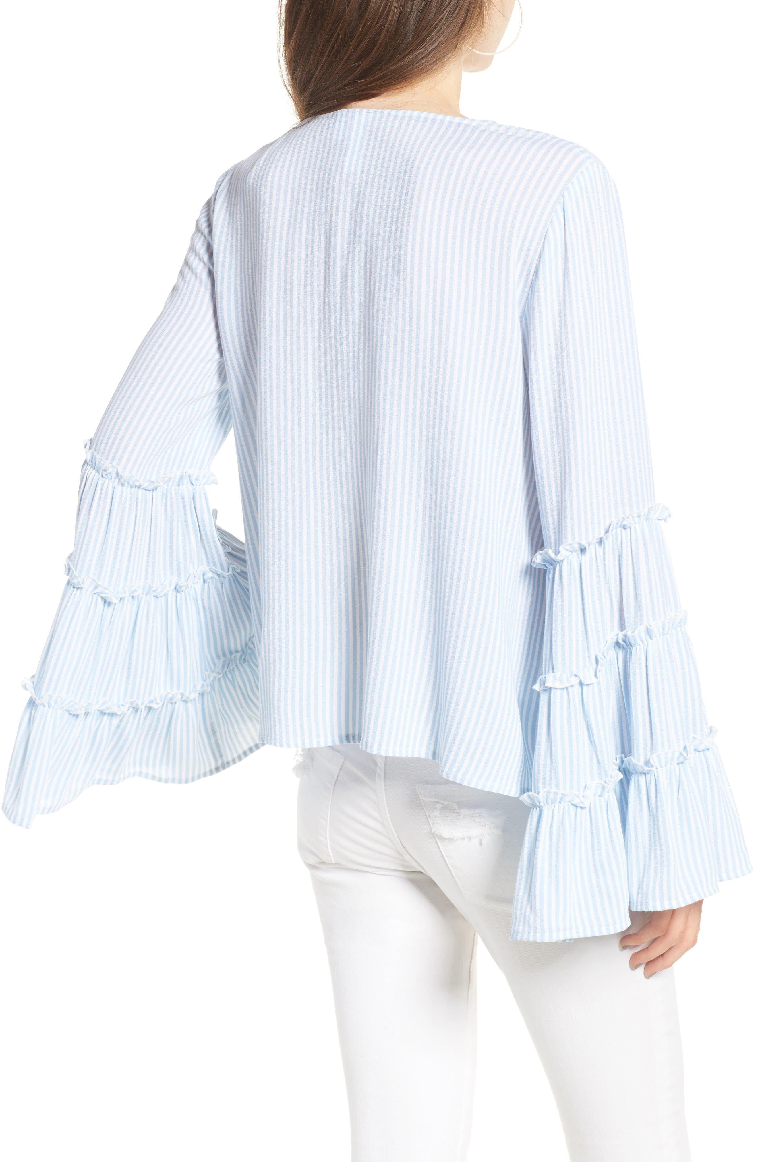 Alternate Image 2  - BP. Stripe Bell Sleeve Blouse