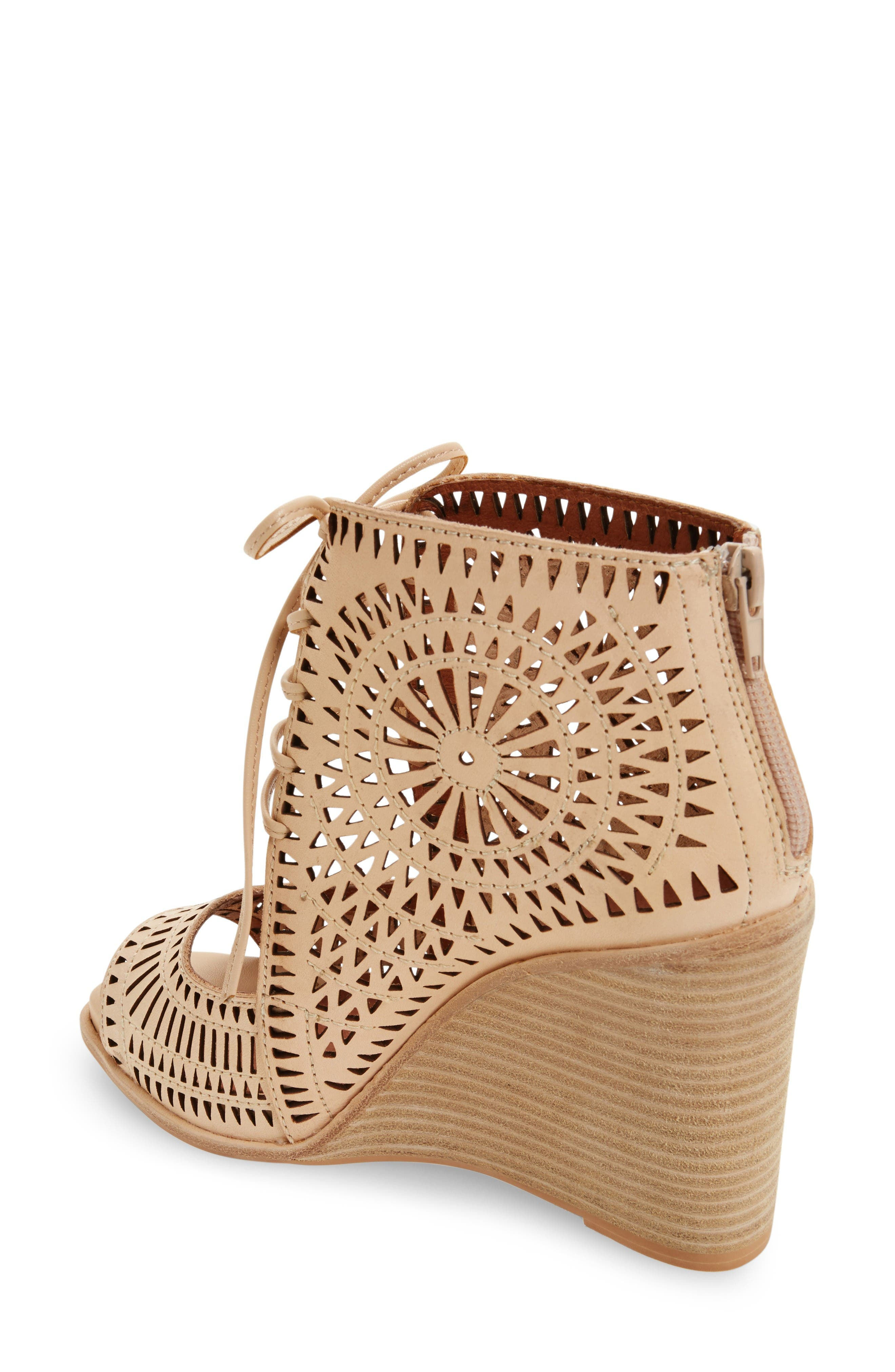 Alternate Image 2  - Jeffrey Campbell Rayos Perforated Wedge Sandal (Women)