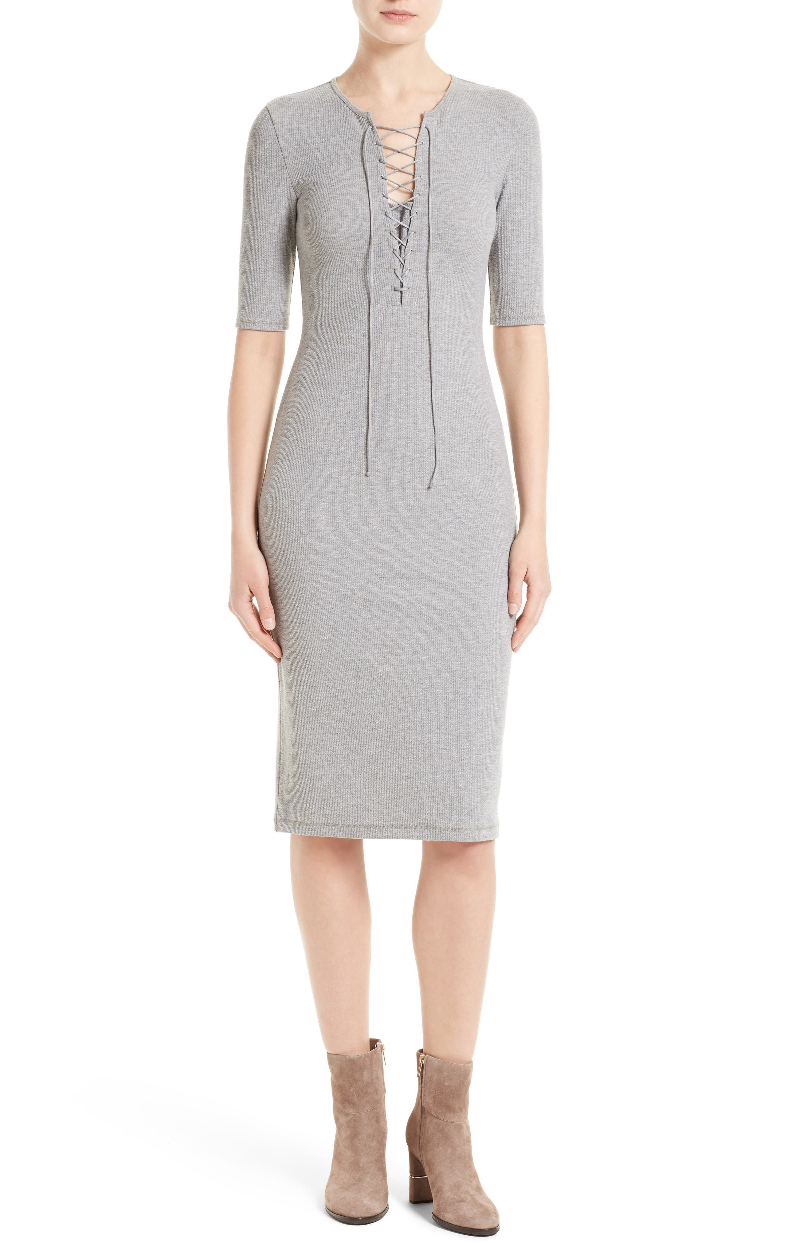 Derek Lam 10 Crosby Lace-Up T-Shirt Dress