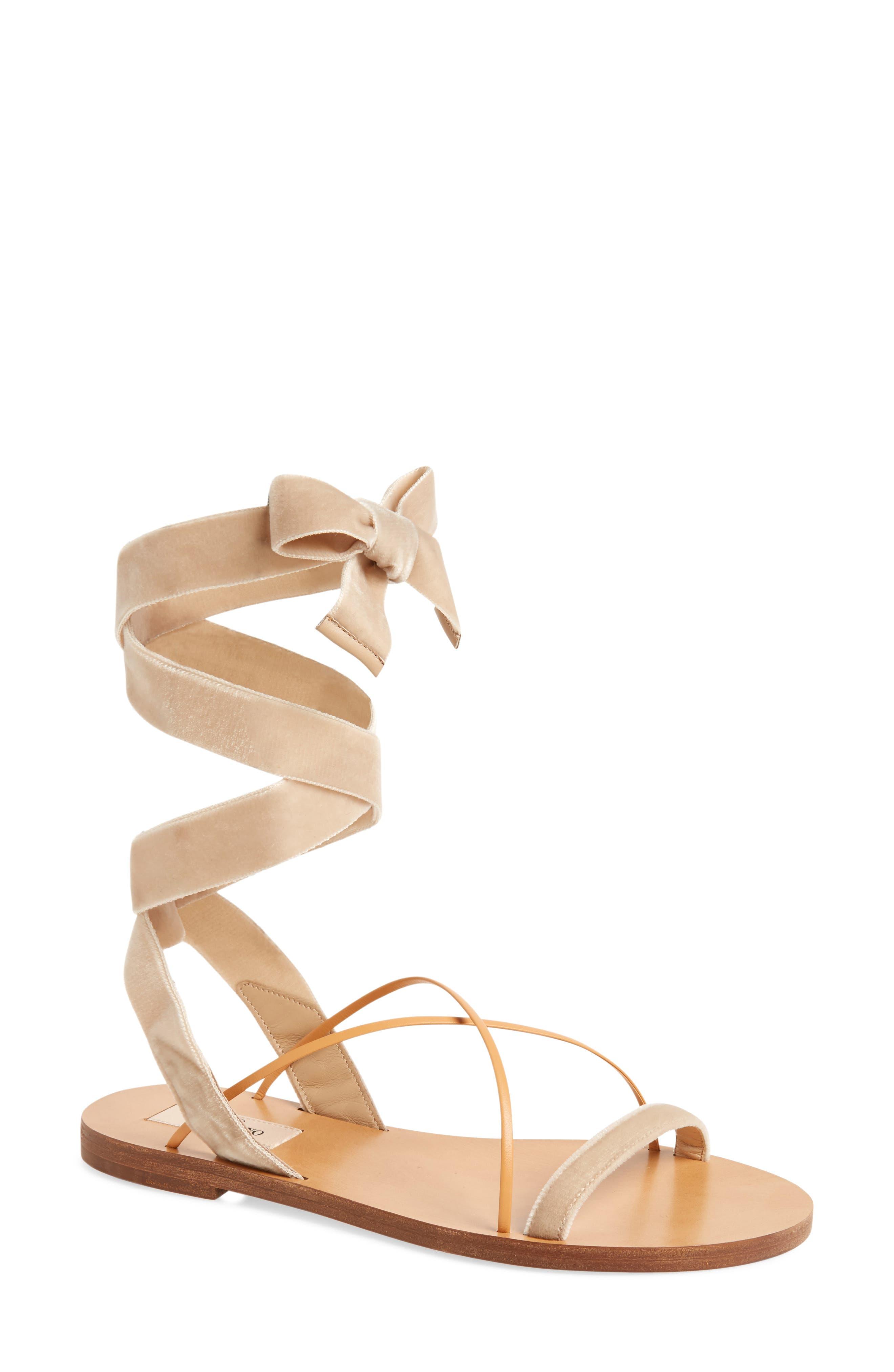 Alternate Image 1 Selected - Valentino Lace-up Sandal (Women)