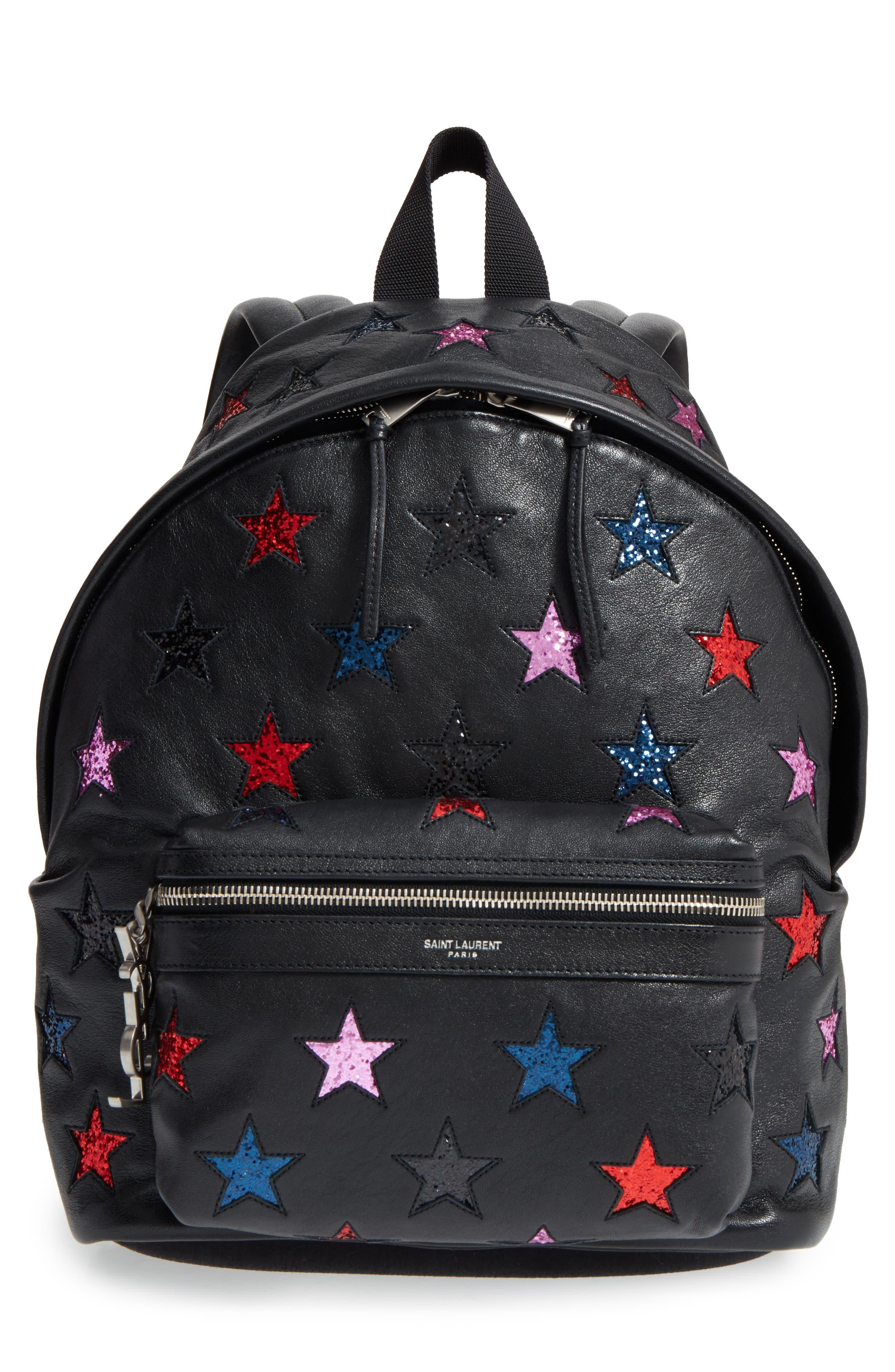 Main Image - Saint Laurent Mini City California Star Leather Backpack