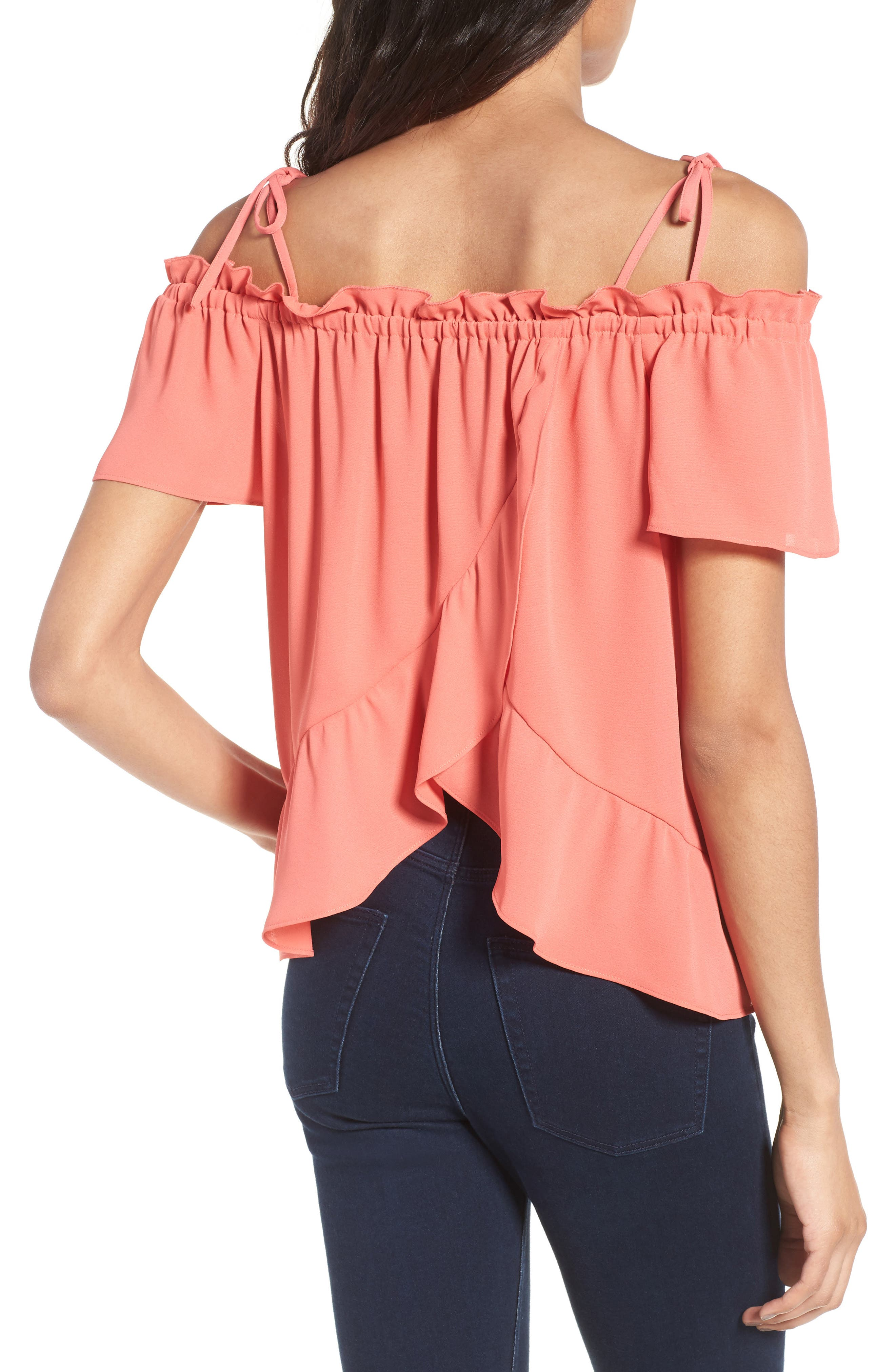 Alternate Image 2  - Chelsea28 Ruffle Off the Shoulder Top