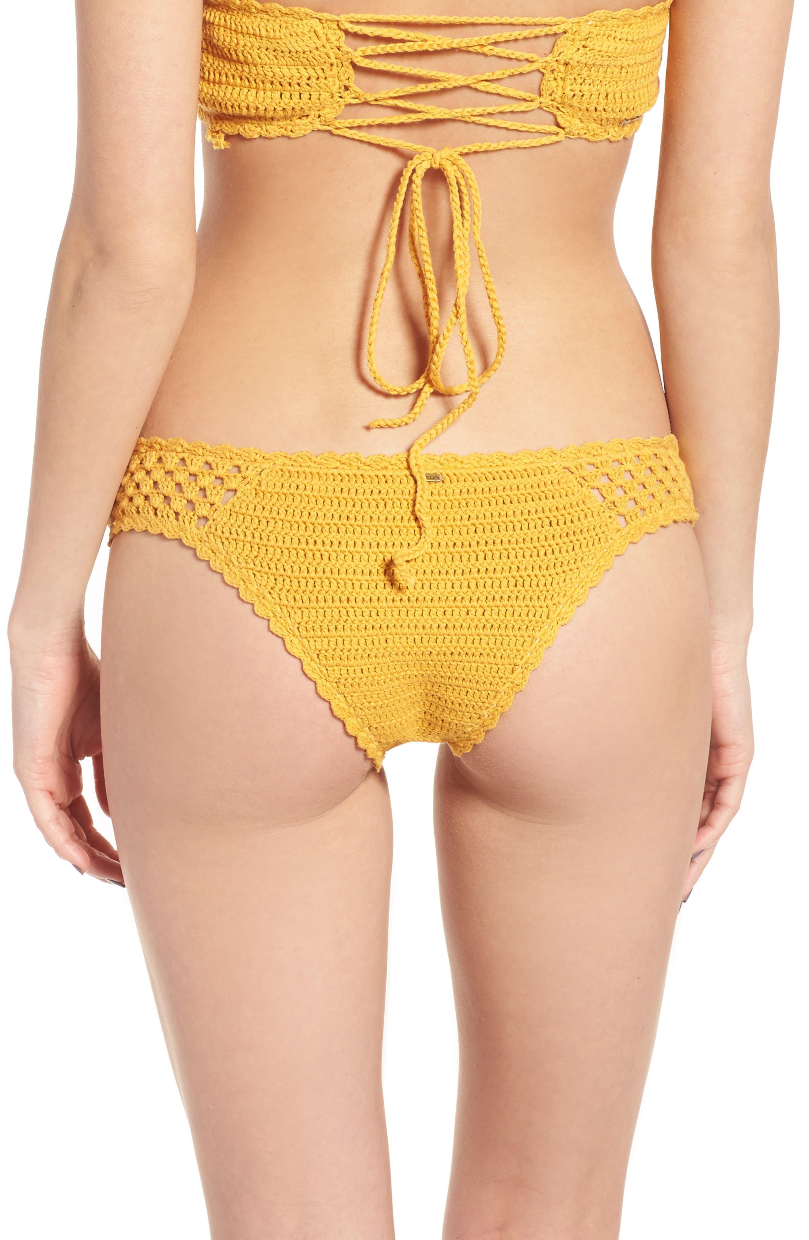 Rip Curl Topanga Luxe Crochet Hipster Bikini Bottoms