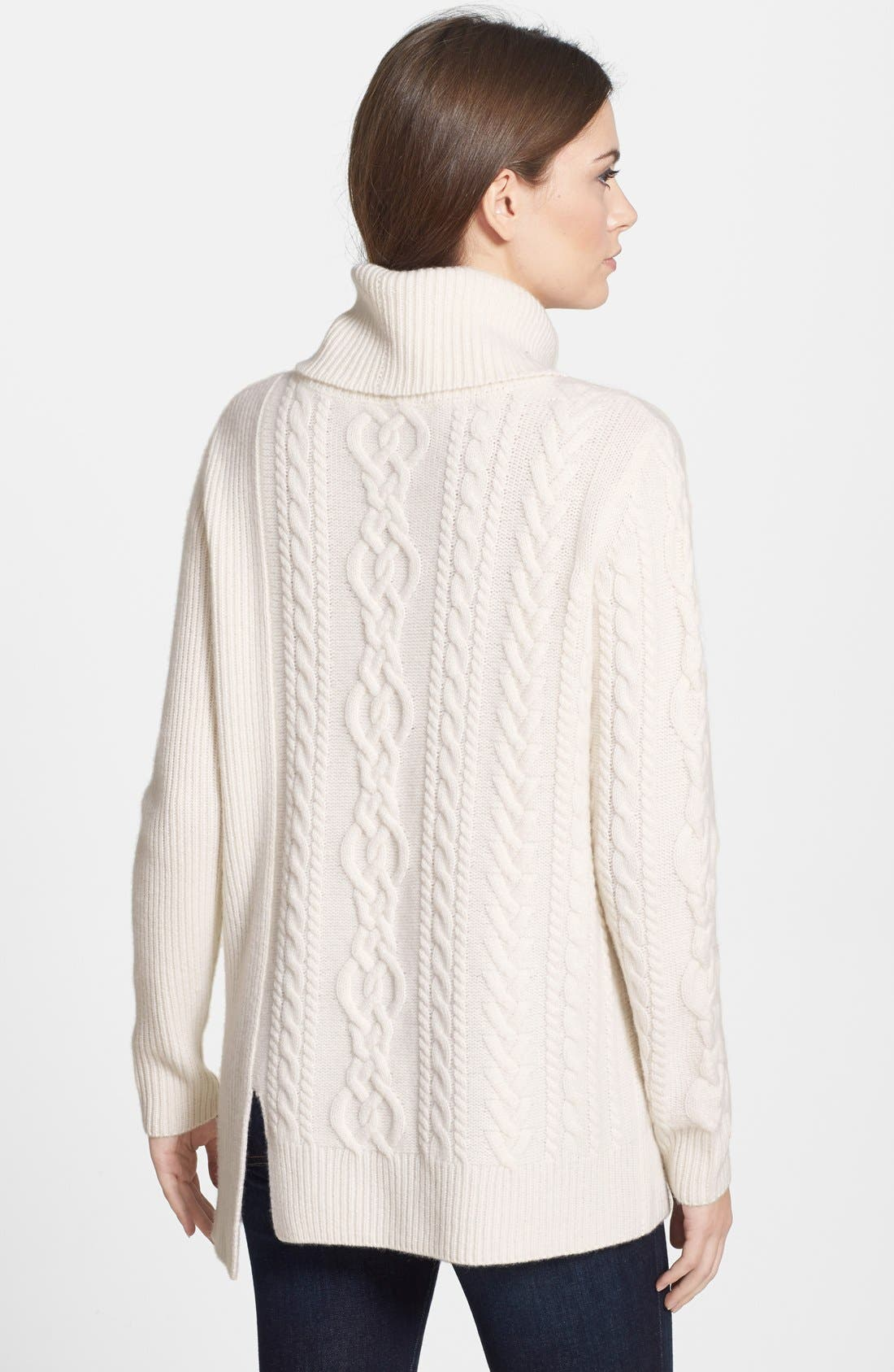 Alternate Image 2  - Nordstrom Collection Cashmere Cable Pullover