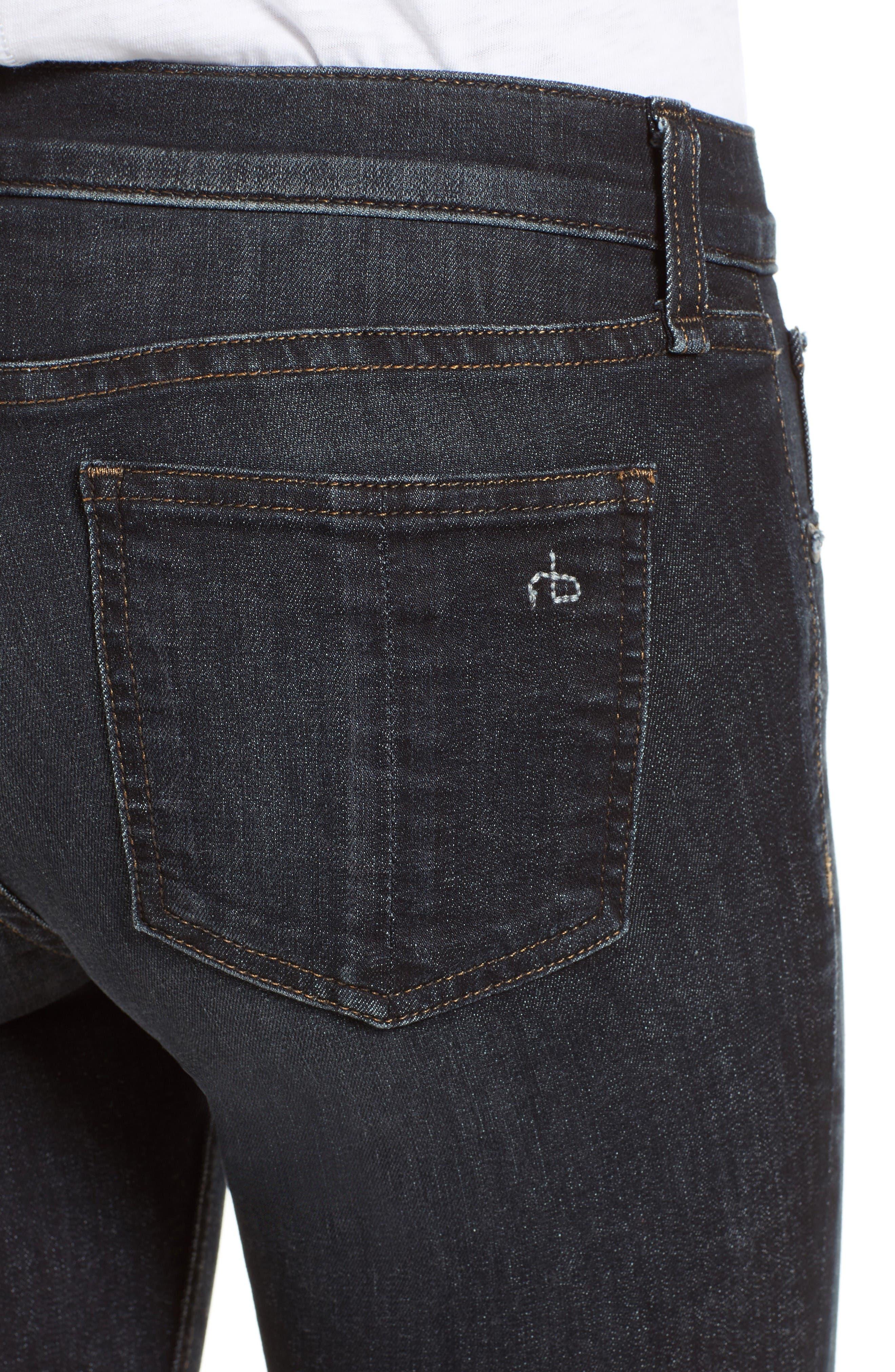 Alternate Image 4  - rag & bone/JEAN Skinny Jeans (Black Rae)