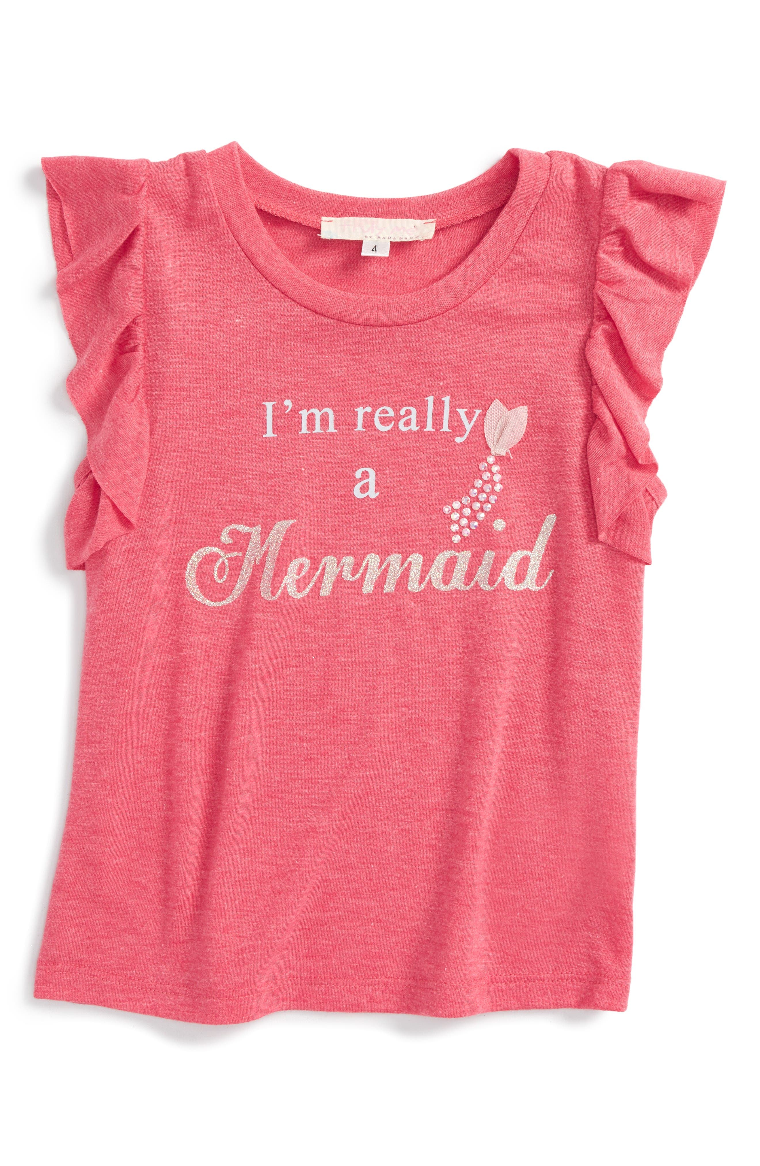 Truly Me I'm Really A Mermaid Tee (Toddler Girls & Little Girls)