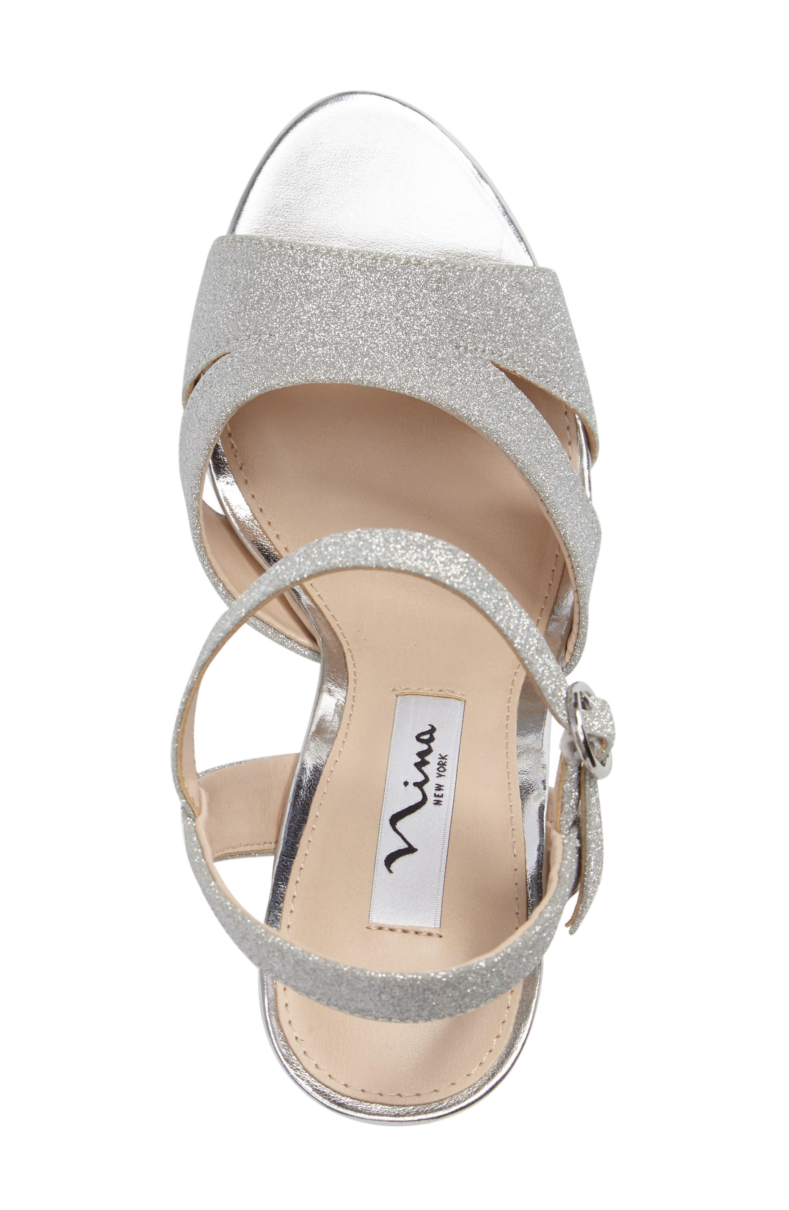 Alternate Image 3  - Nina Shara Shimmery Platform Sandal (Women)