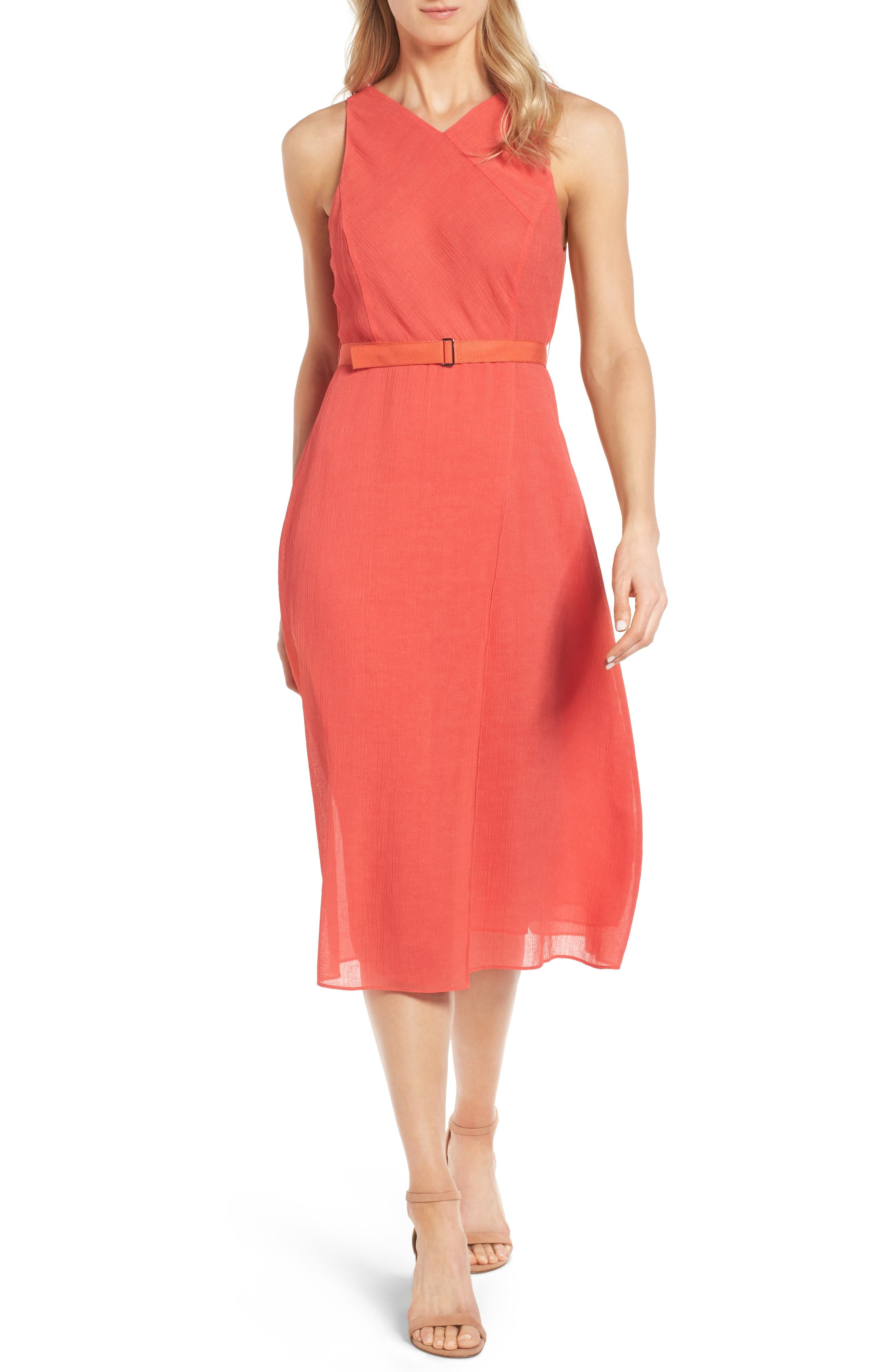 Alternate Image 1 Selected - Classiques Entier® Belted Midi Dress