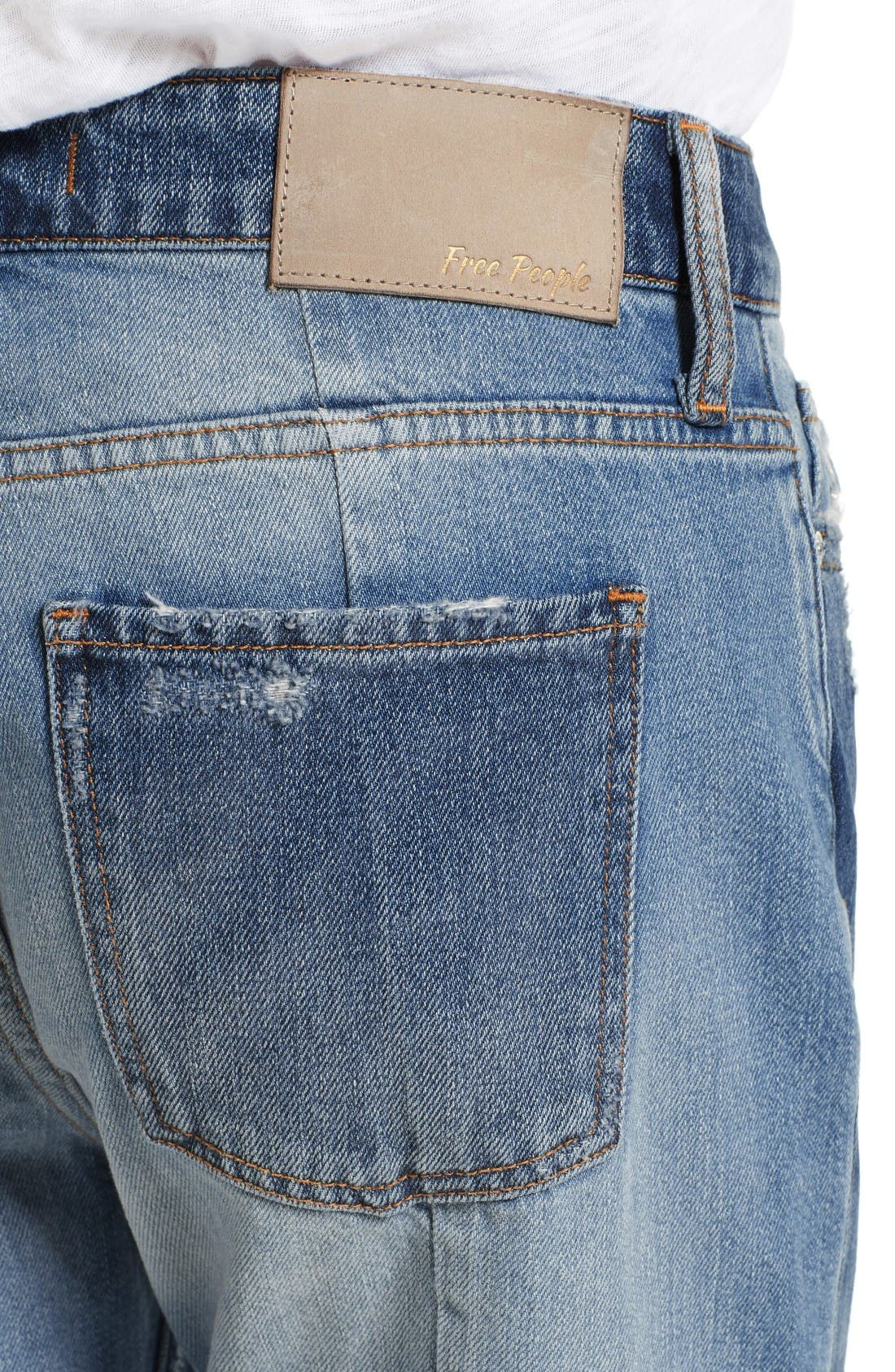 Alternate Image 5  - Free People The Patchwork High Waist Crop Jeans