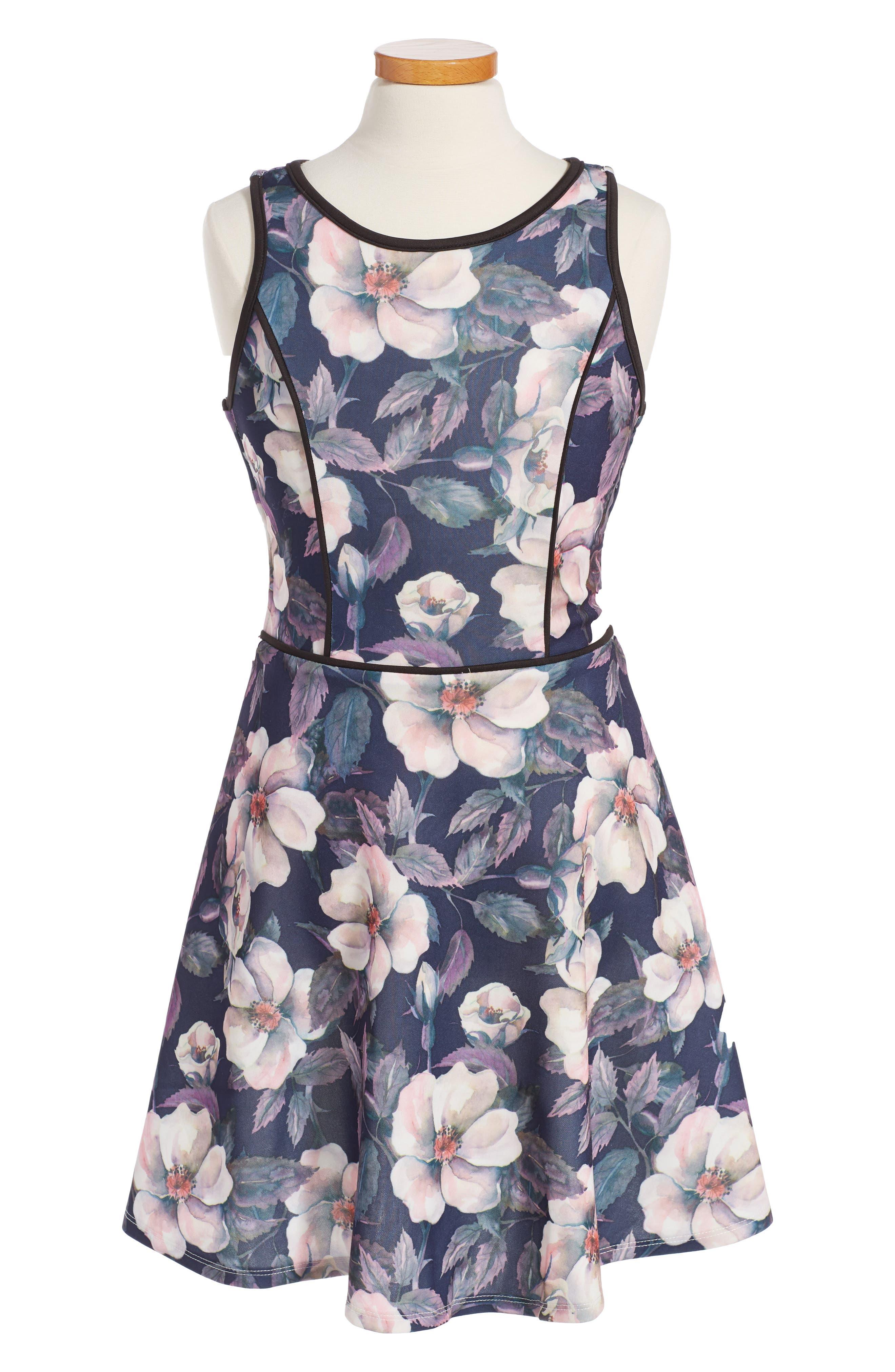 PENELOPE TREE Floral Print Sleeveless Dress