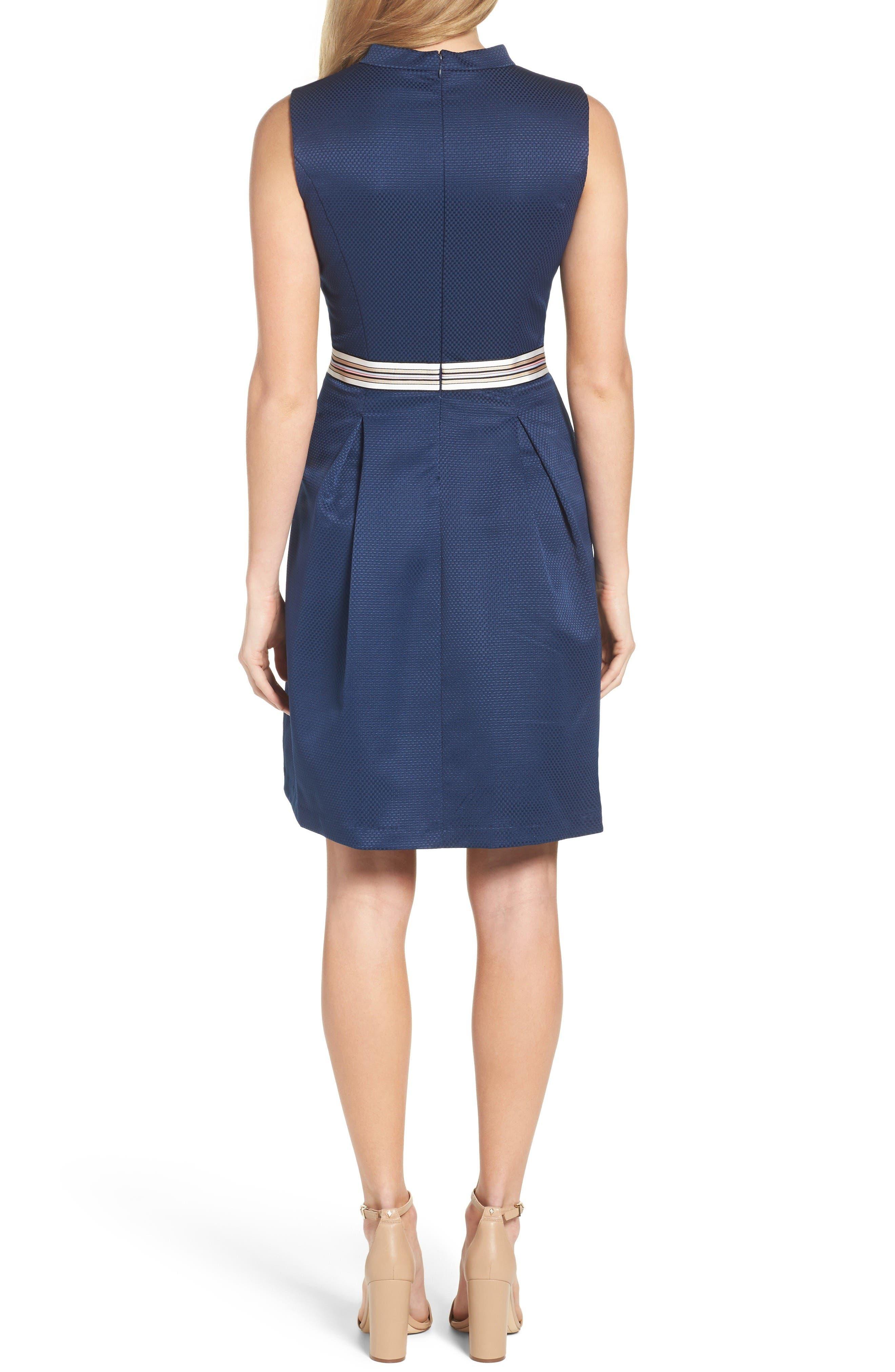 Alternate Image 2  - Ellen Tracy Belted Fit & Flare Dress
