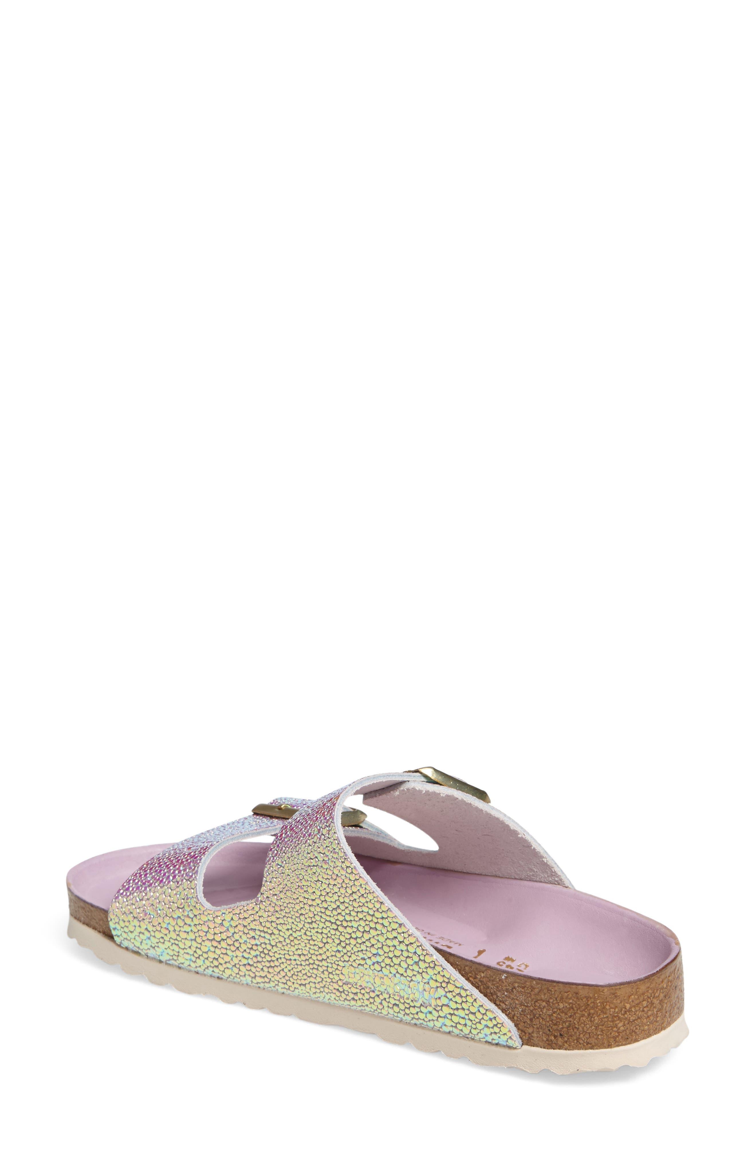 Alternate Image 2  - Birkenstock Arizona Lux Iridescent Slide Sandal (Women)